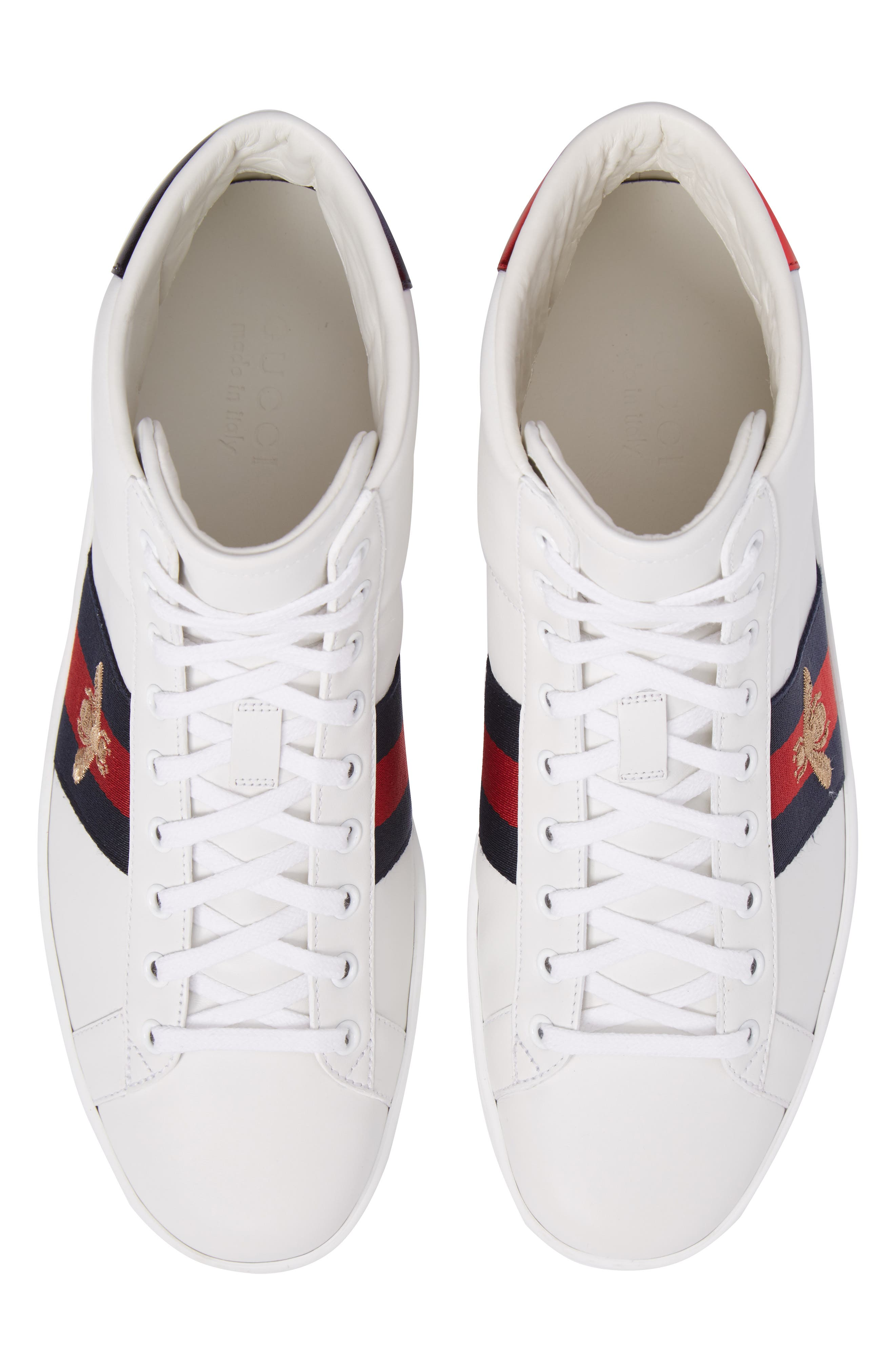 Alternate Image 5  - Gucci New Ace High Bee Sneaker (Men)