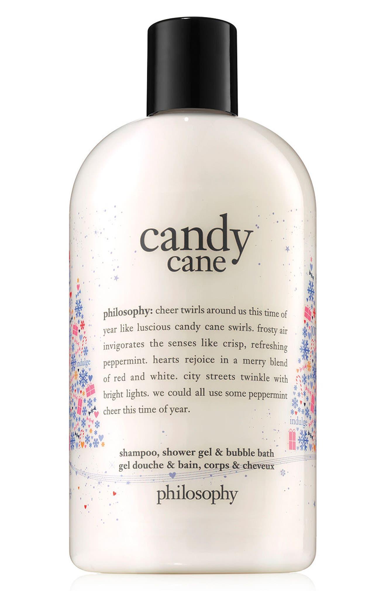 philosophy candy cane shampoo, shower gel & bubble bath (Limited Edition)