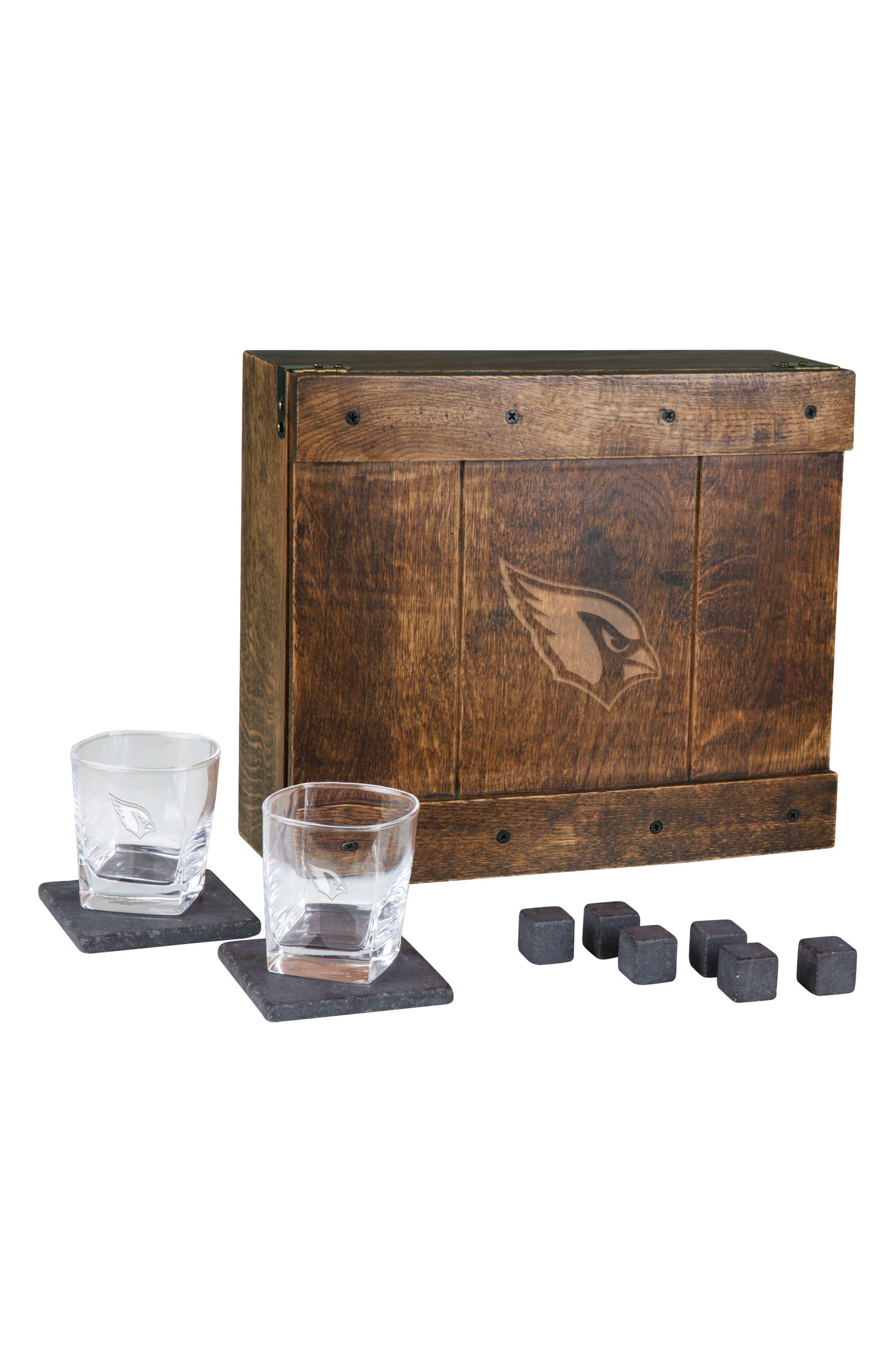 Picnic Time NFL Team Logo 11-Piece Whiskey Box Gift Set