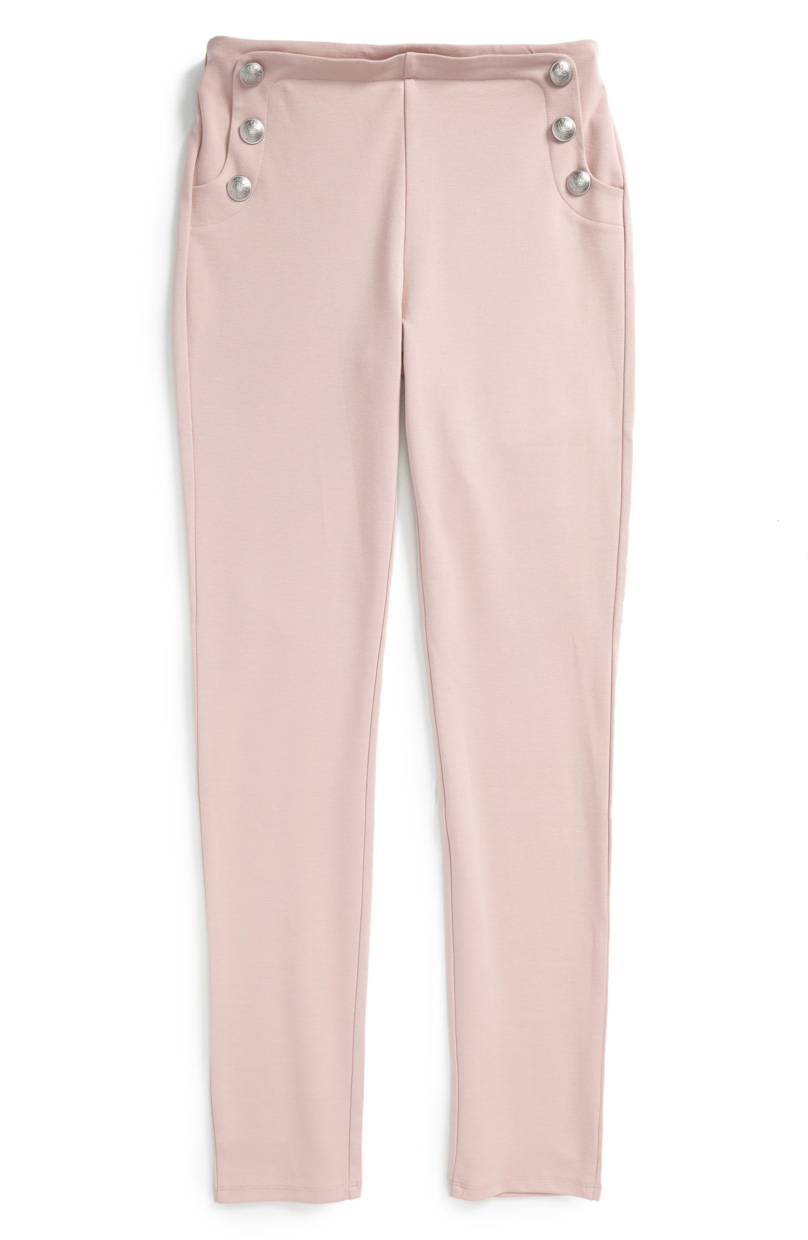 Bardot Junior Button Ponte Pants (Big Girls)