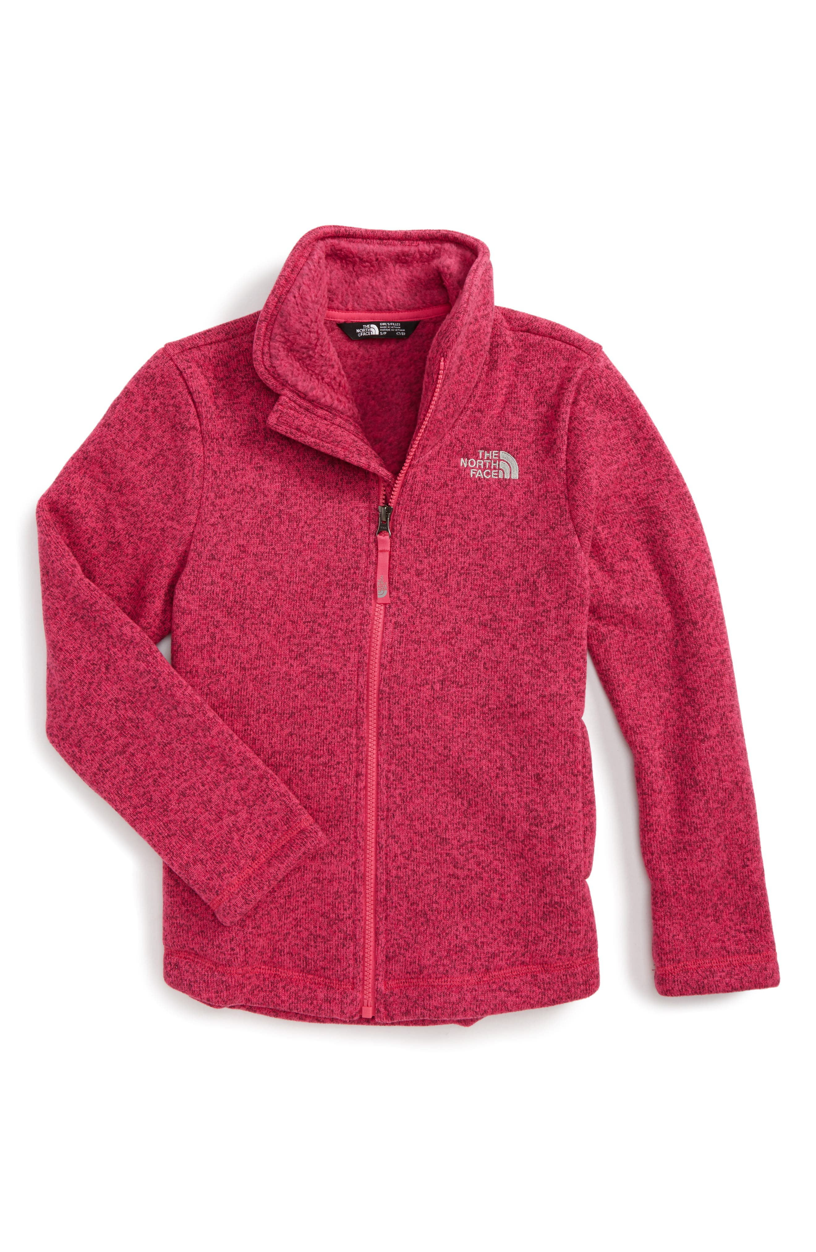 Crescent Fleece Jacket,                             Main thumbnail 1, color,                             Petticoat Pink Heather