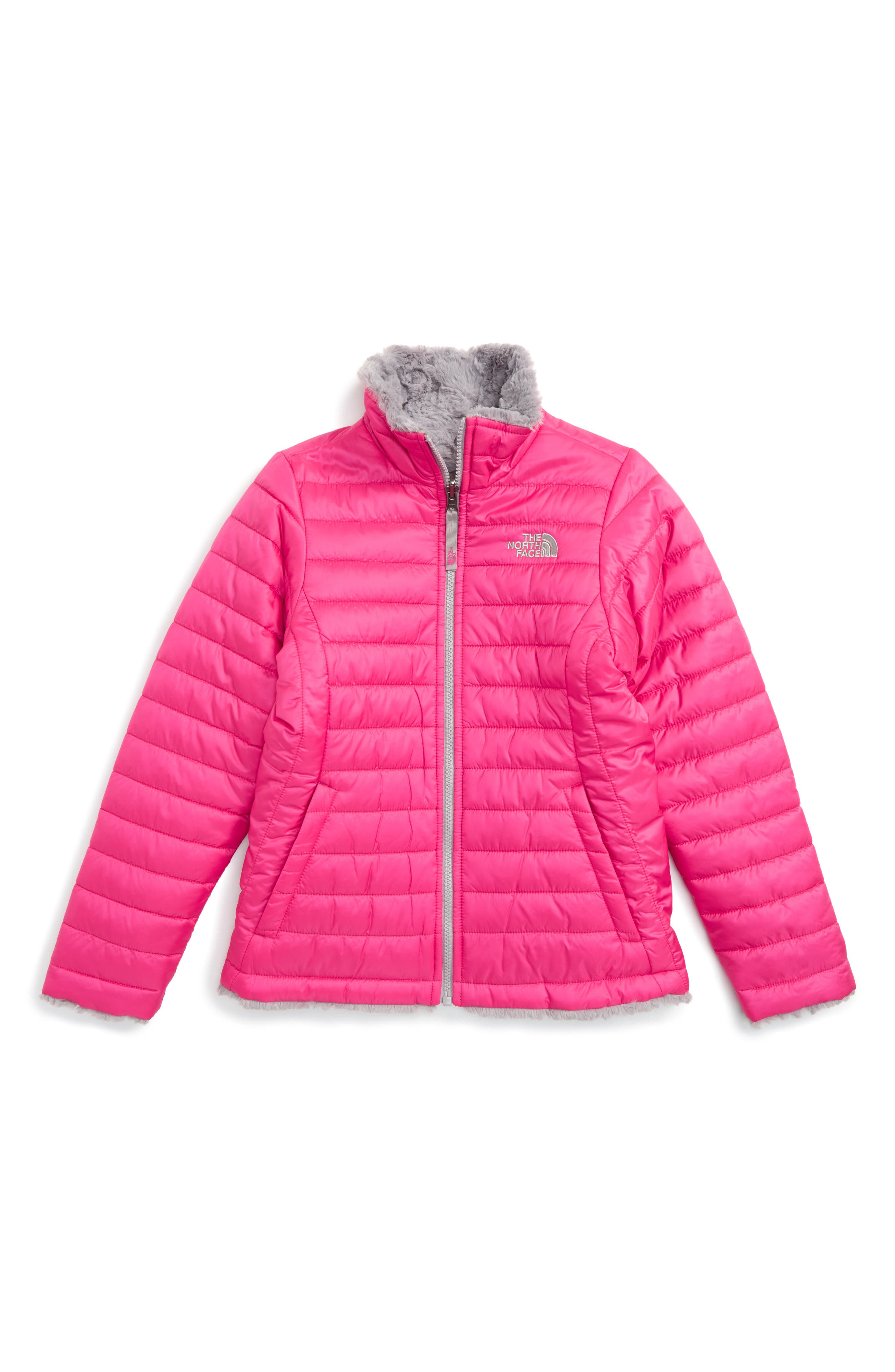 Main Image - The North Face Mossbud Reversible Heatseeker™ Wind Resistant Jacket (Little Girls & Big Girls)