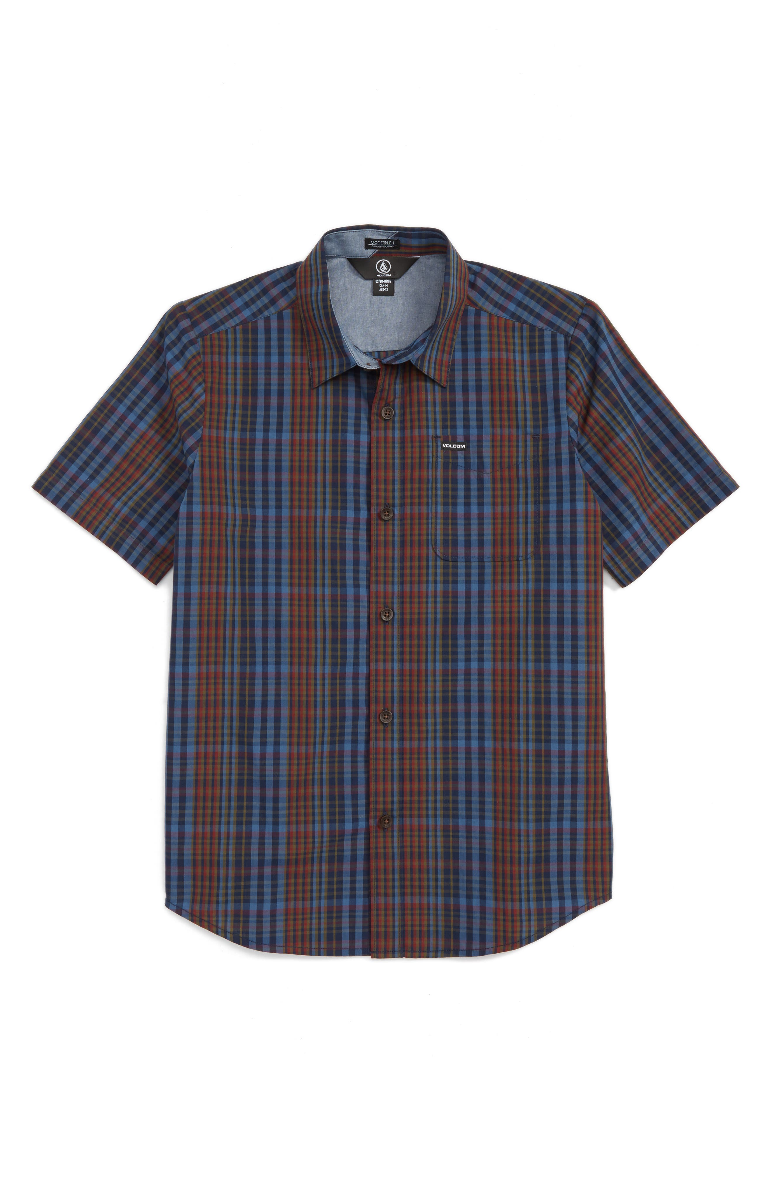 Volcom Hugo Plaid Woven Shirt (Toddler Boys, Little Boys & Big Boys)