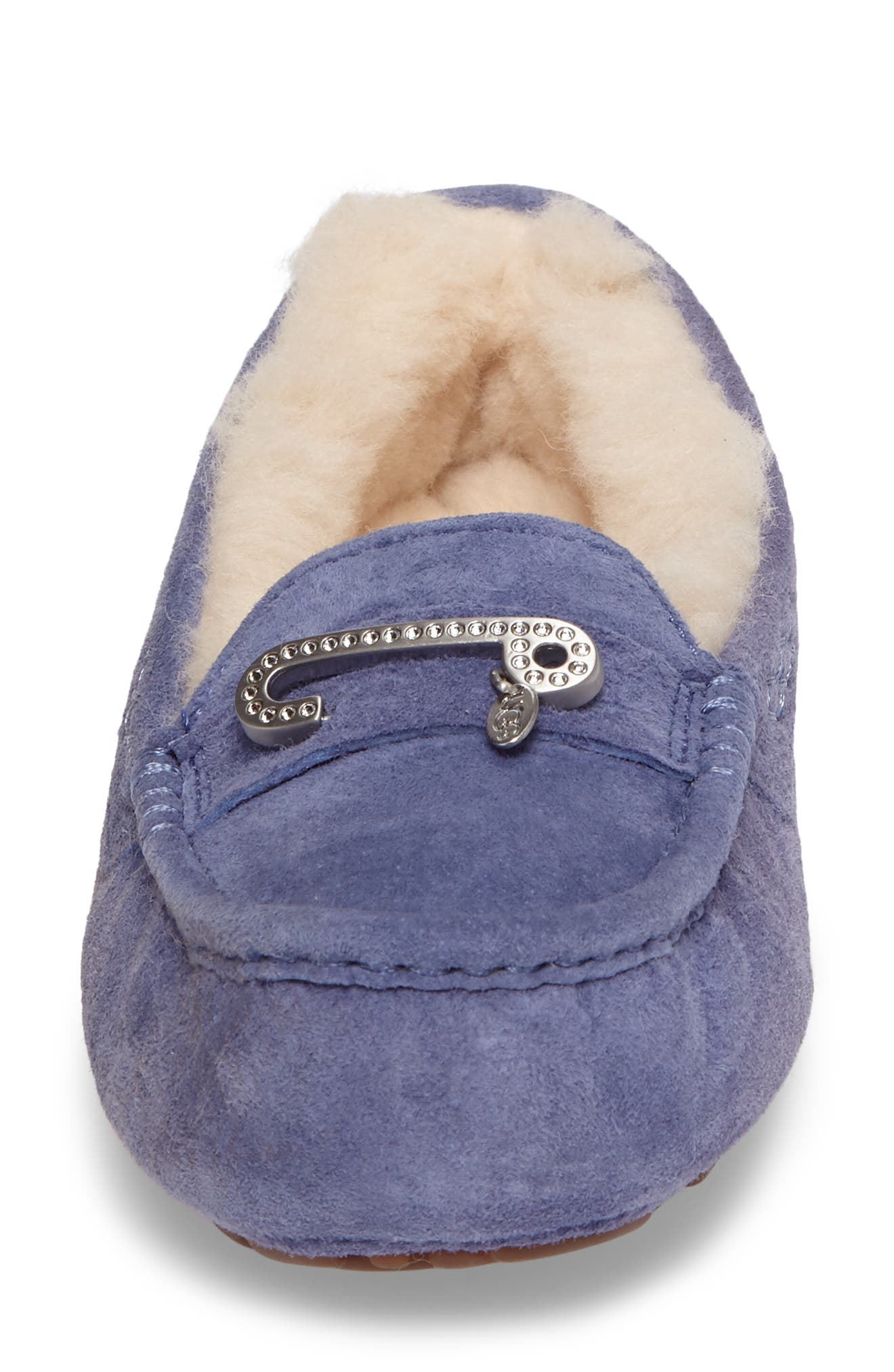 Alternate Image 4  - UGG® Florencia Water Resistant Silkee™ Suede Slipper (Women)