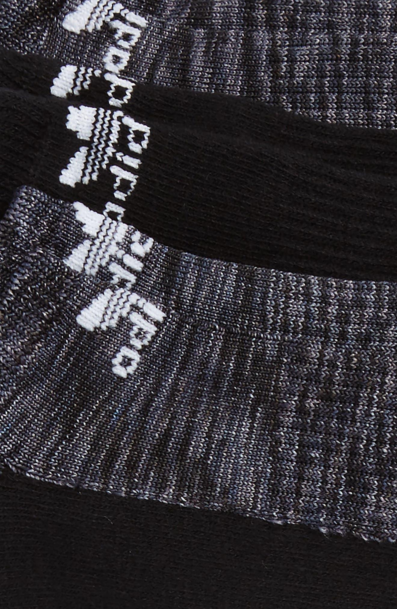 3-Pack Space Dye Low Top Socks,                             Alternate thumbnail 2, color,                             Black/ Grey/ Onyx/ White