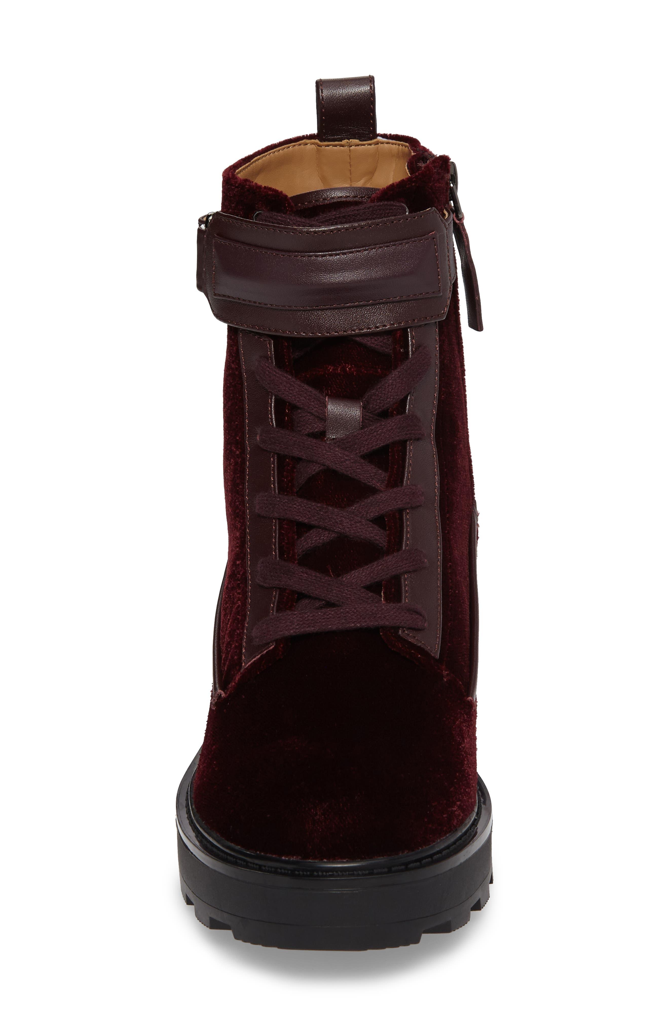 Vanora Boot,                             Alternate thumbnail 4, color,                             Burgundy Velvet