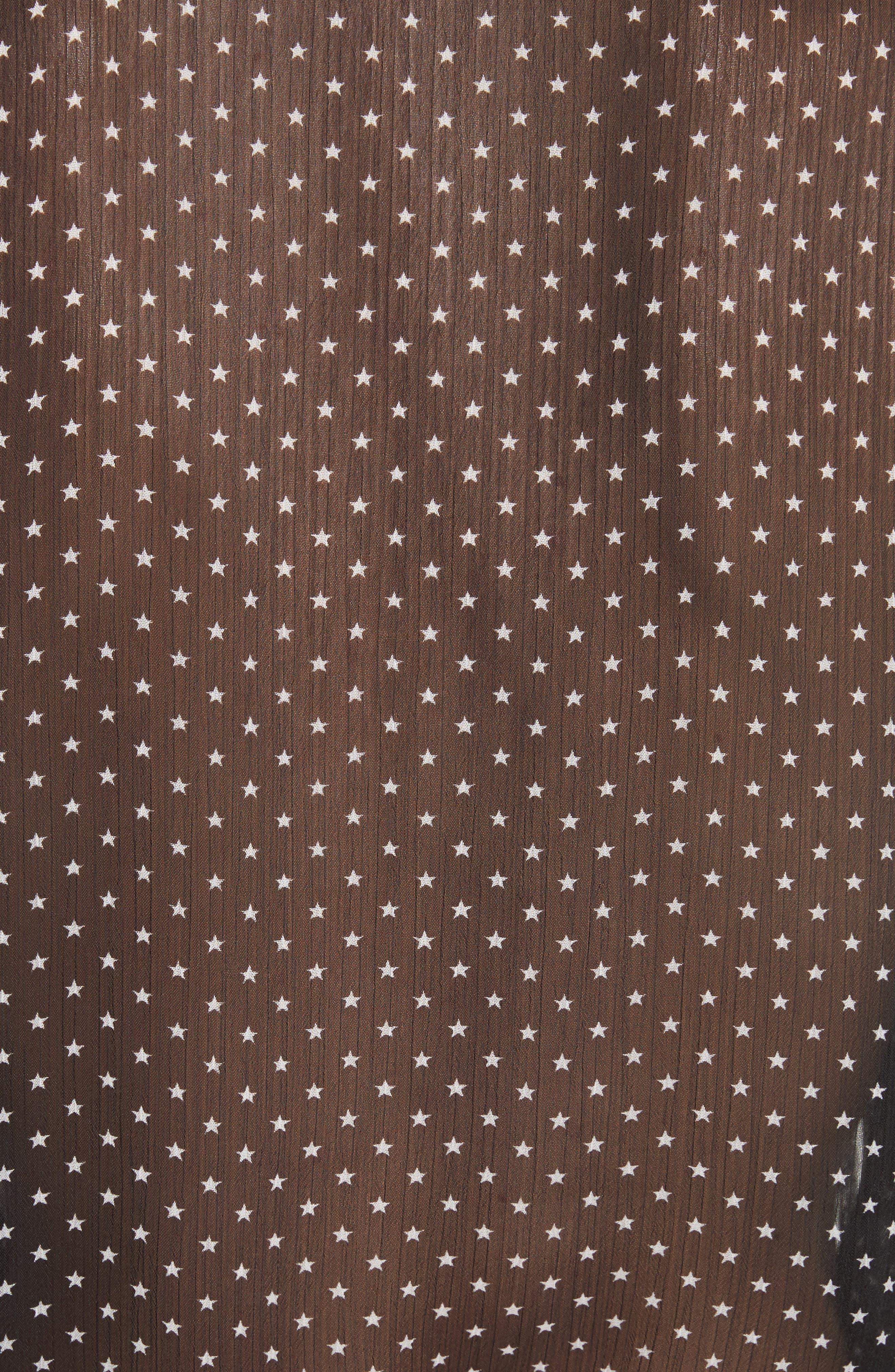 Tabitha Star Print Blouse,                             Alternate thumbnail 5, color,                             Black/ Ivory
