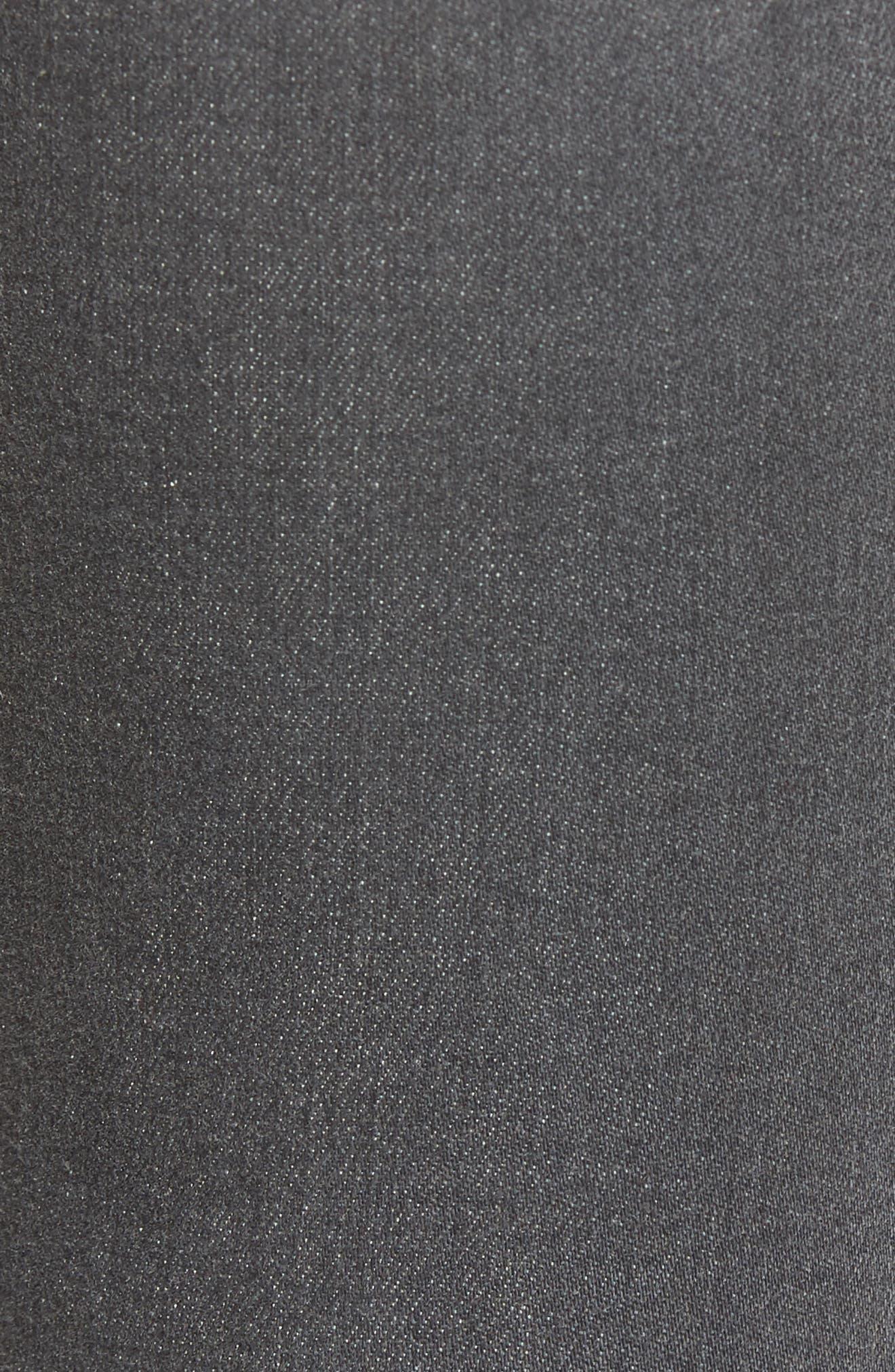 Ripped Skinny Jeans,                             Alternate thumbnail 5, color,                             Rebelite Charcoal