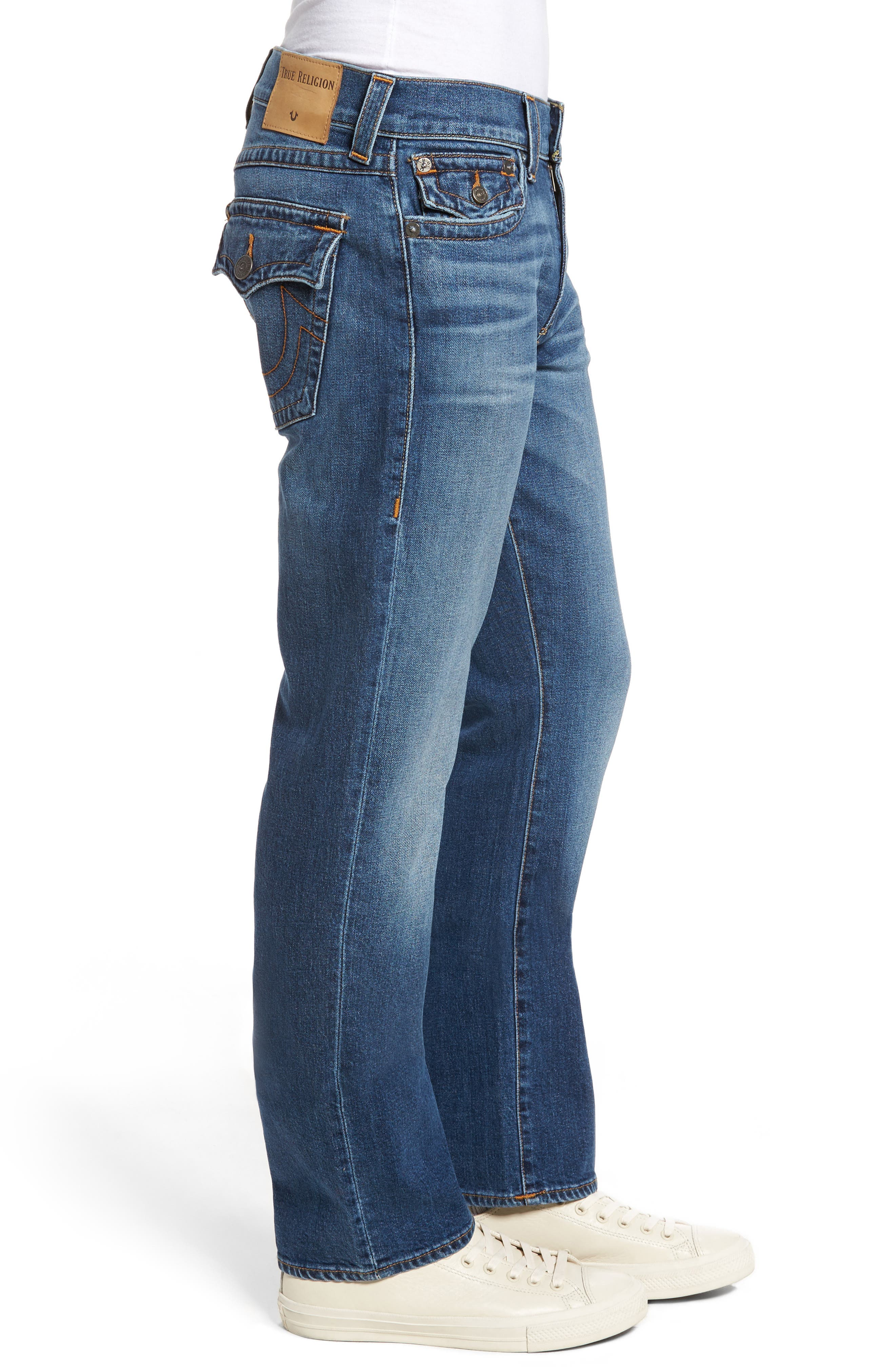 Ricky Relaxed Fit Jeans,                             Alternate thumbnail 3, color,                             Indigo Traveler