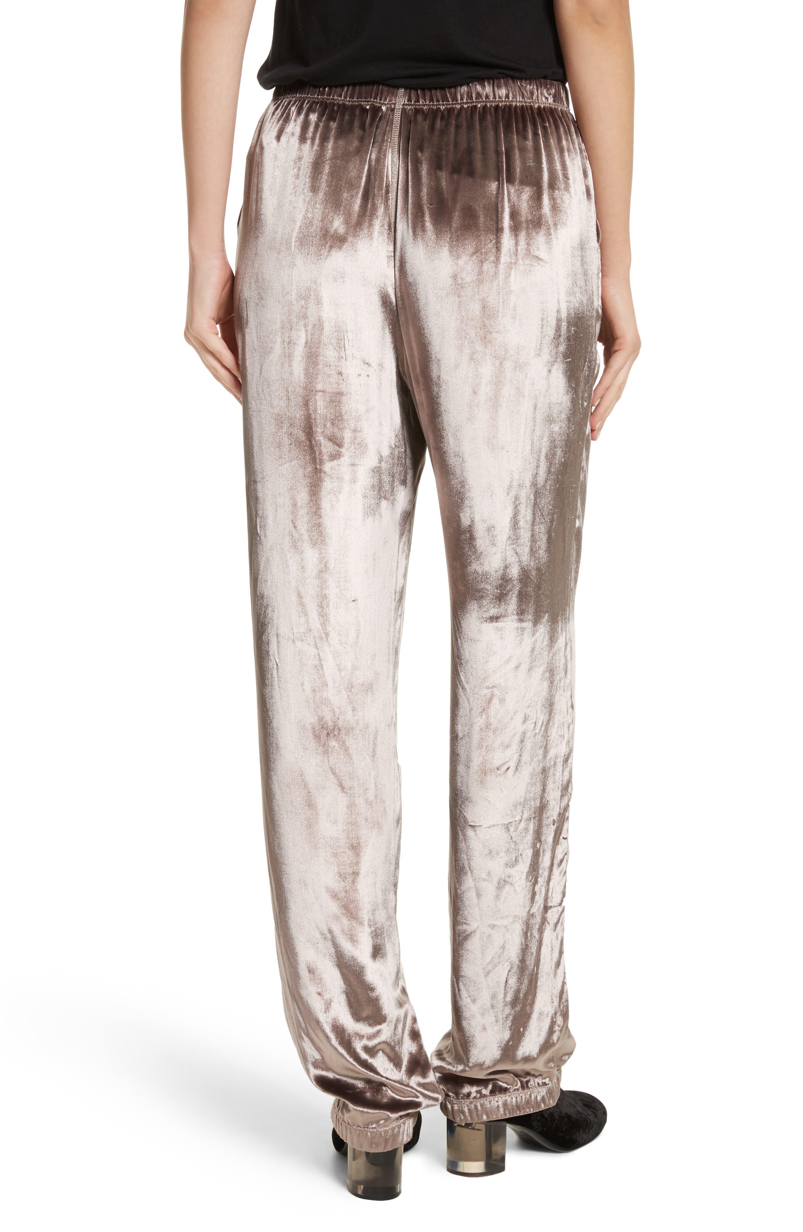 Alternate Image 3  - rag & bone Crushed Velvet Track Pants