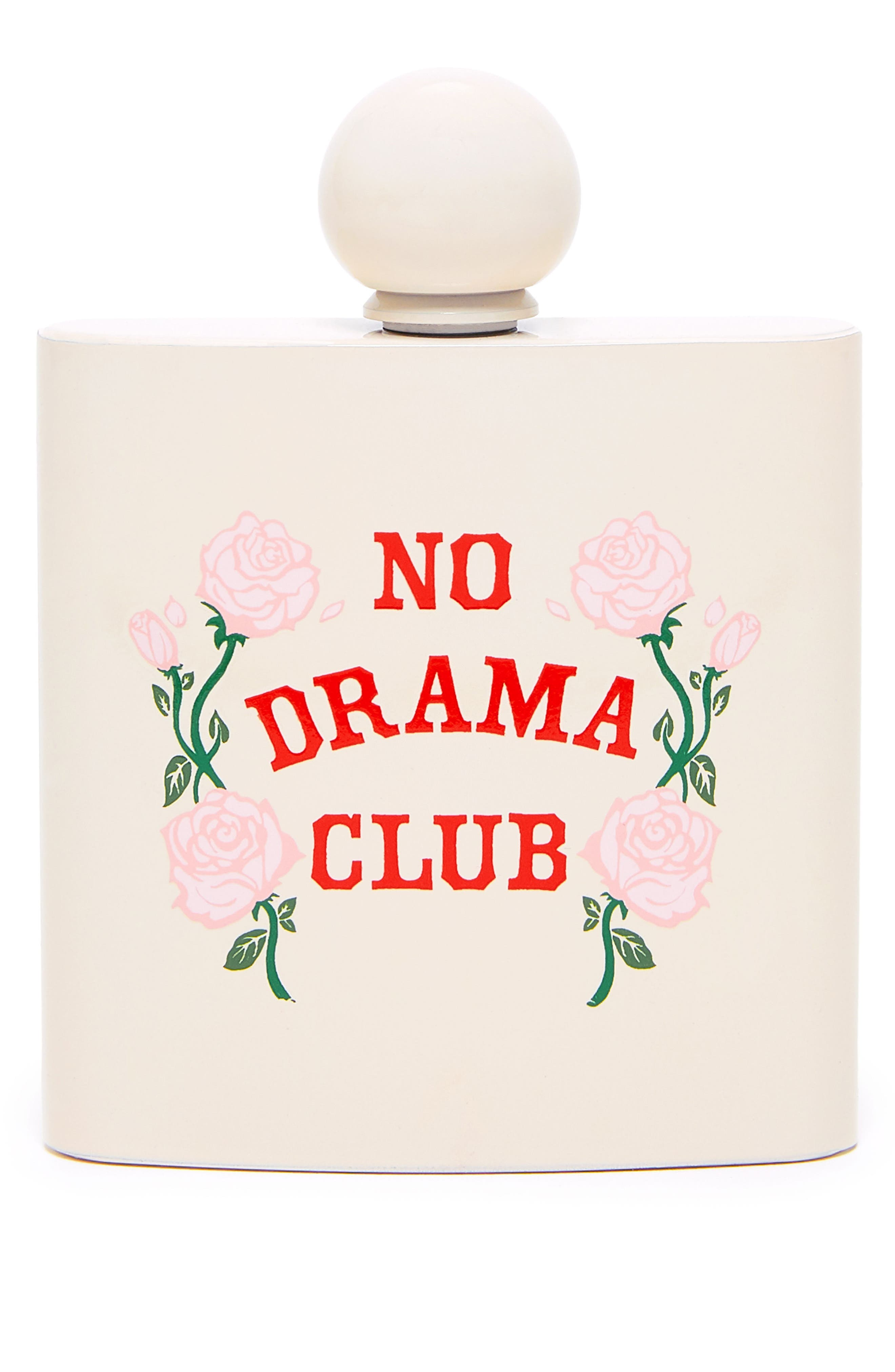 No Drama Club Flask,                         Main,                         color, Beige