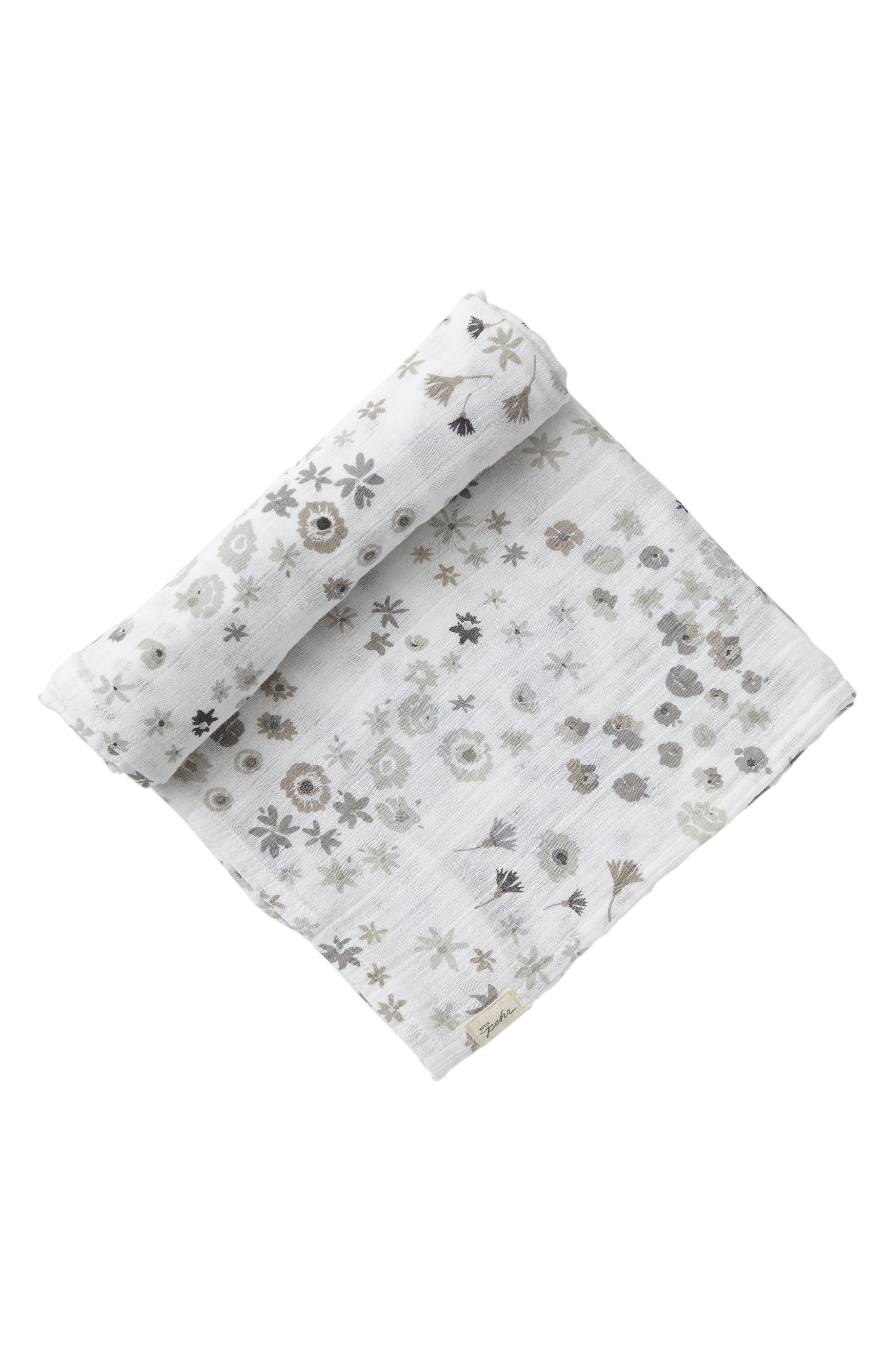 Petit Pehr Monochrome Meadow Swaddle Blanket