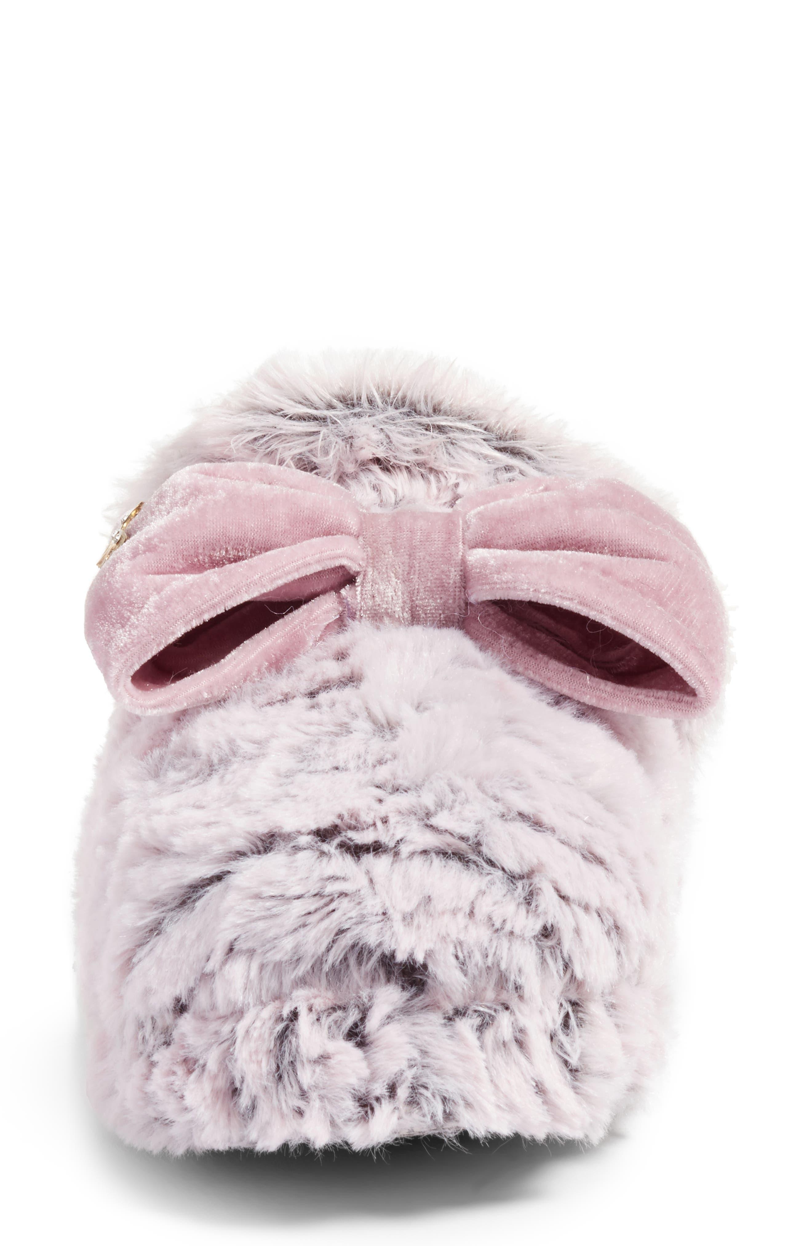 Alternate Image 4  - Pretty You London Faux Fur Slipper