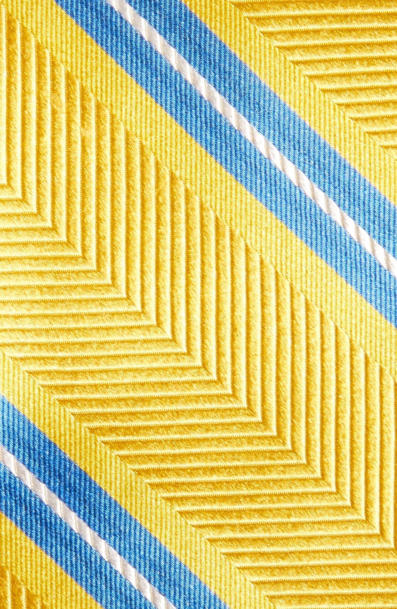 Stripe Silk Tie,                             Alternate thumbnail 2, color,                             Gold