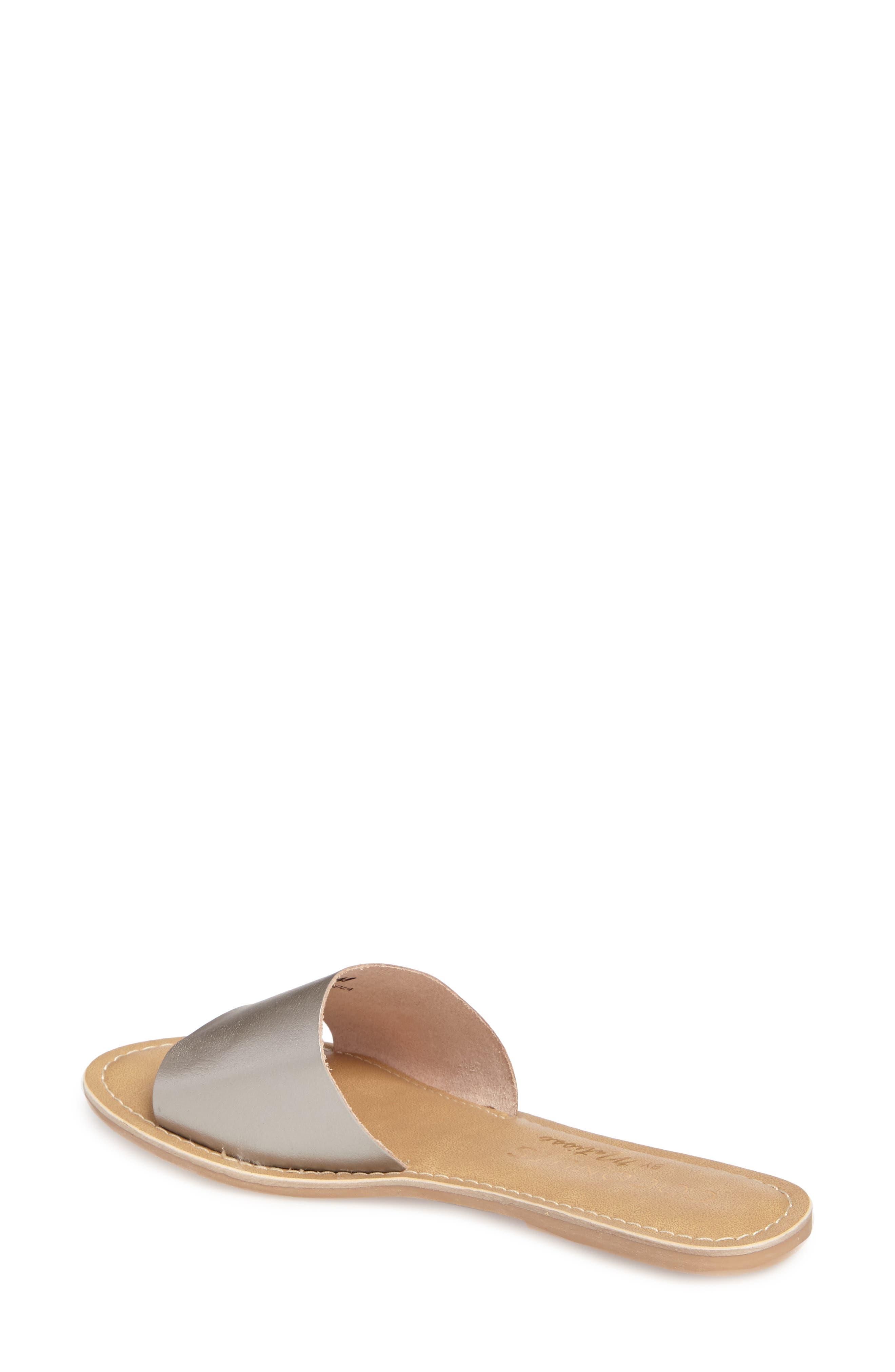 Cabana Slide Sandal,                             Alternate thumbnail 2, color,                             Ice Leather
