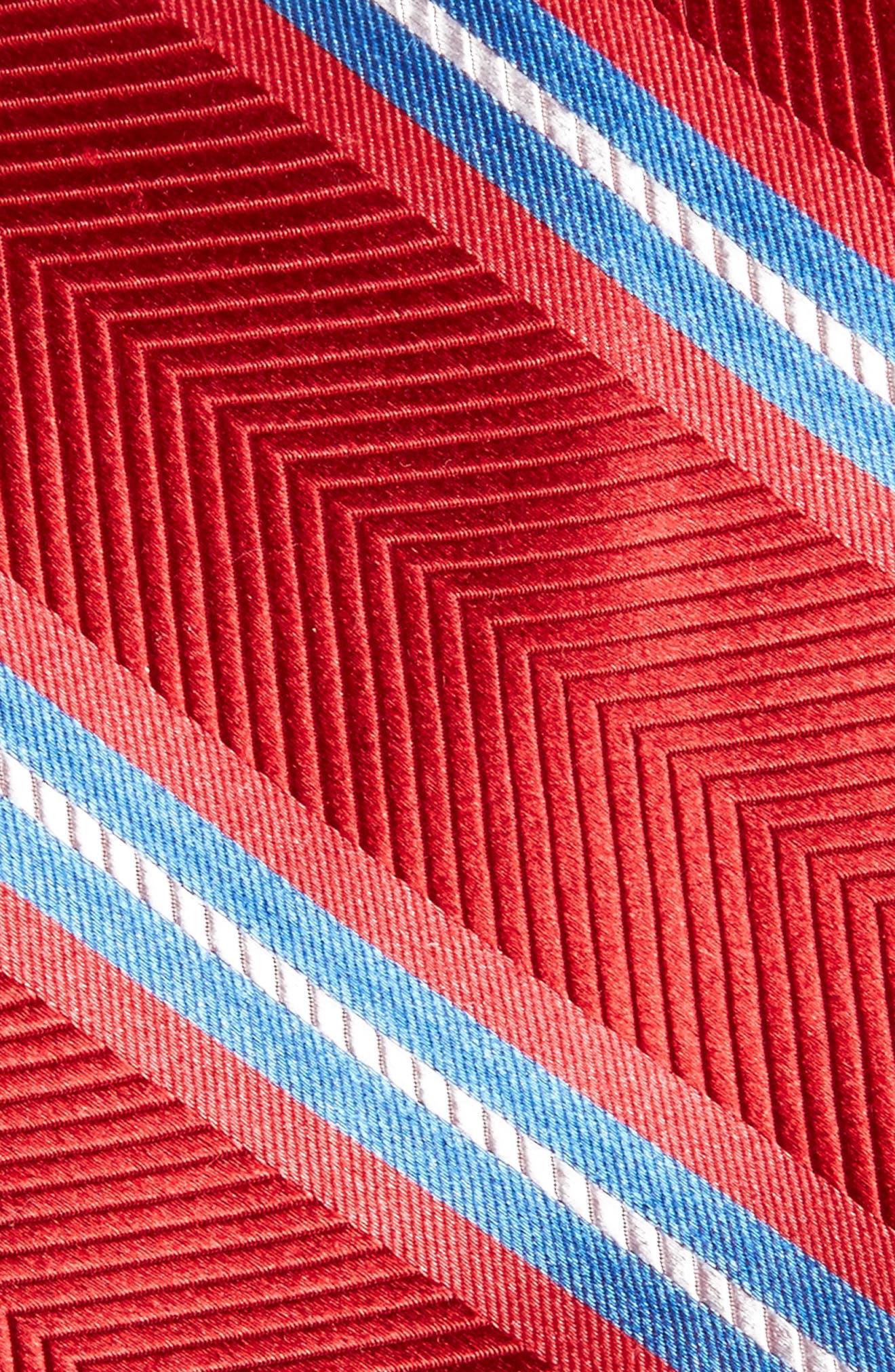Alternate Image 2  - Nordstrom Men's Shop Stripe Silk Tie (X-Long)