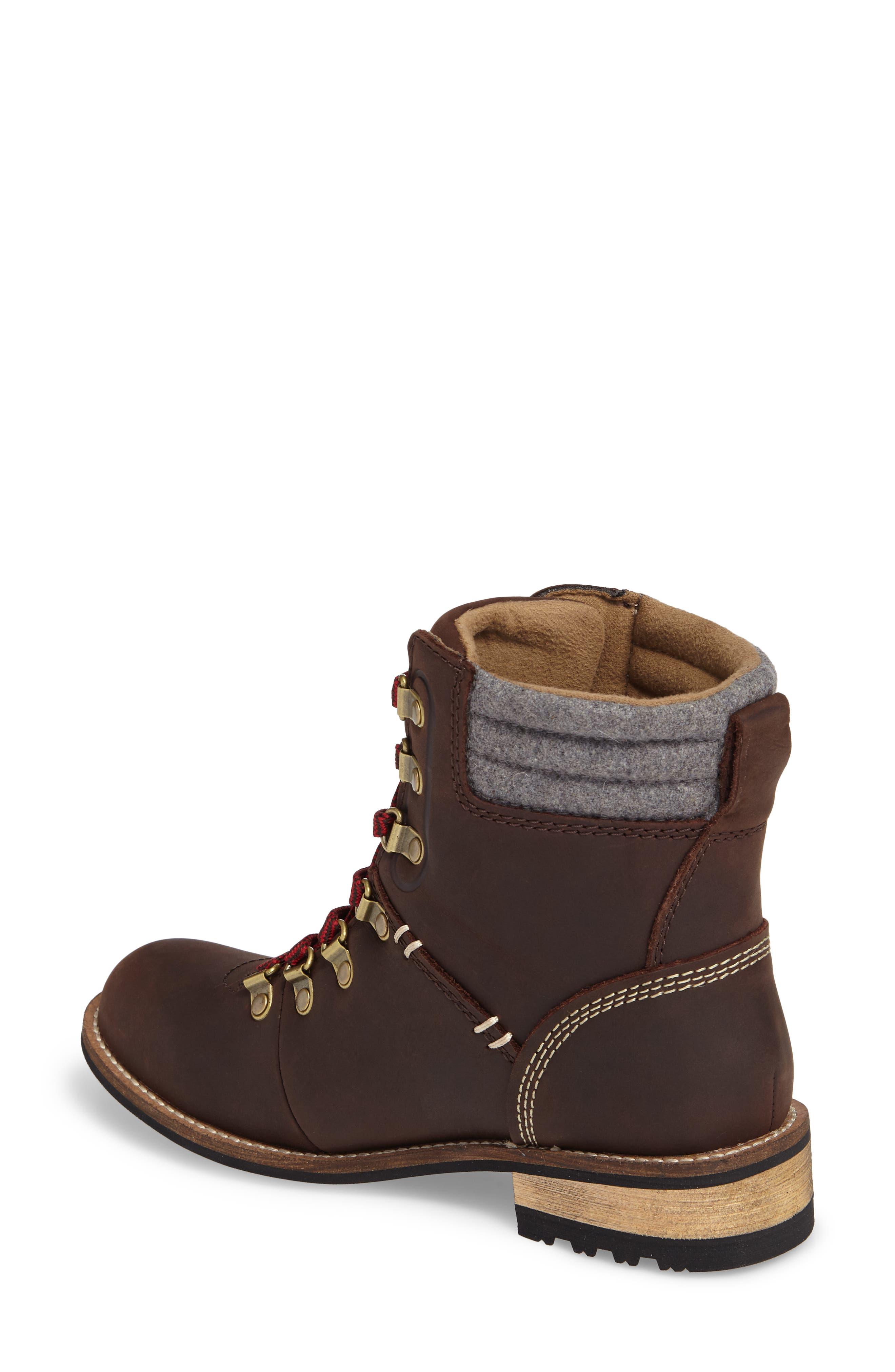 Surrey II Waterproof Boot,                             Alternate thumbnail 2, color,                             Brown Leather