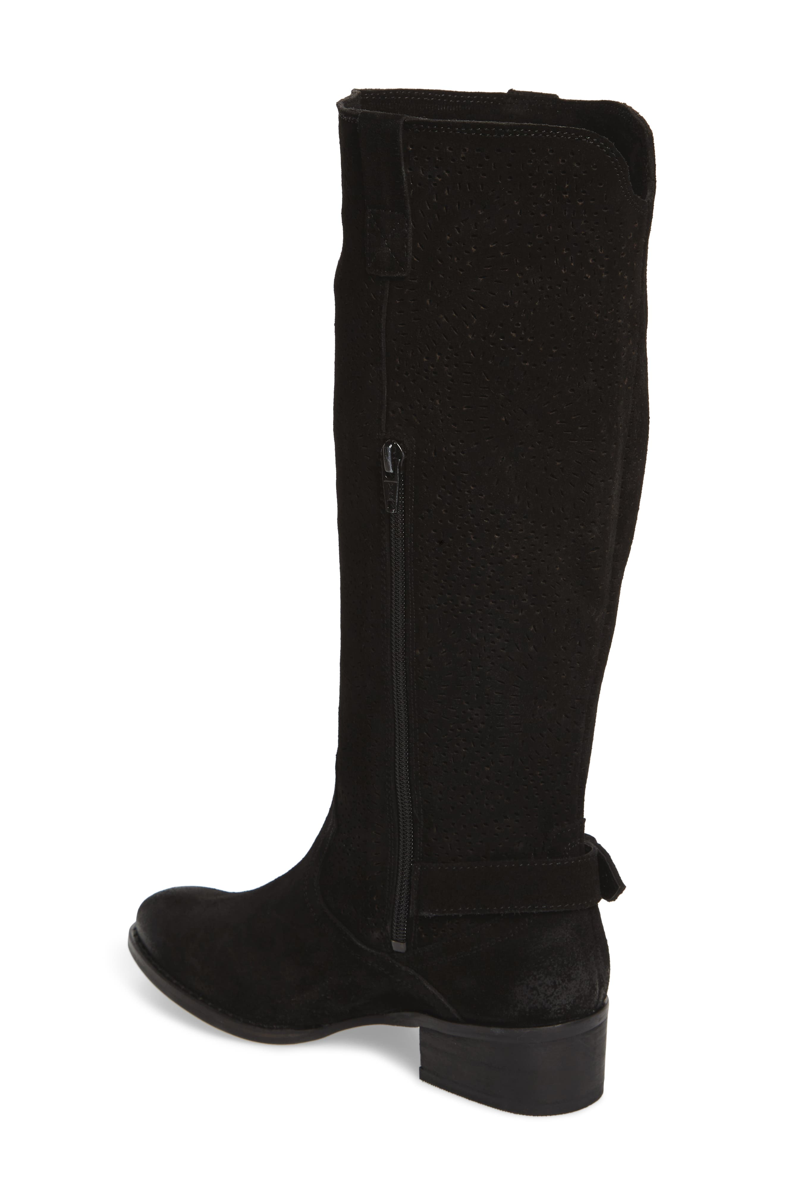 Ziba Tall Boot,                             Alternate thumbnail 2, color,                             Black Suede