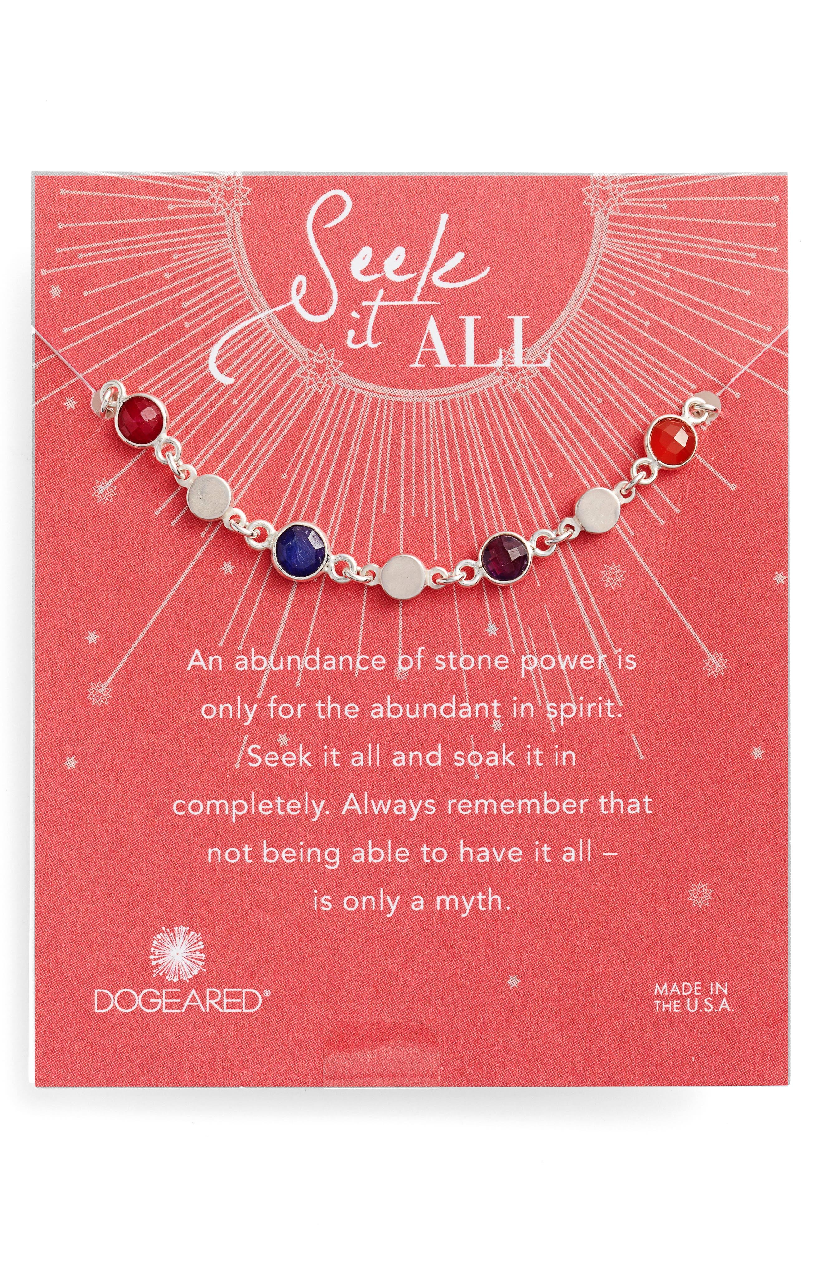 Seek It All Bezeled Bracelet,                         Main,                         color, Silver