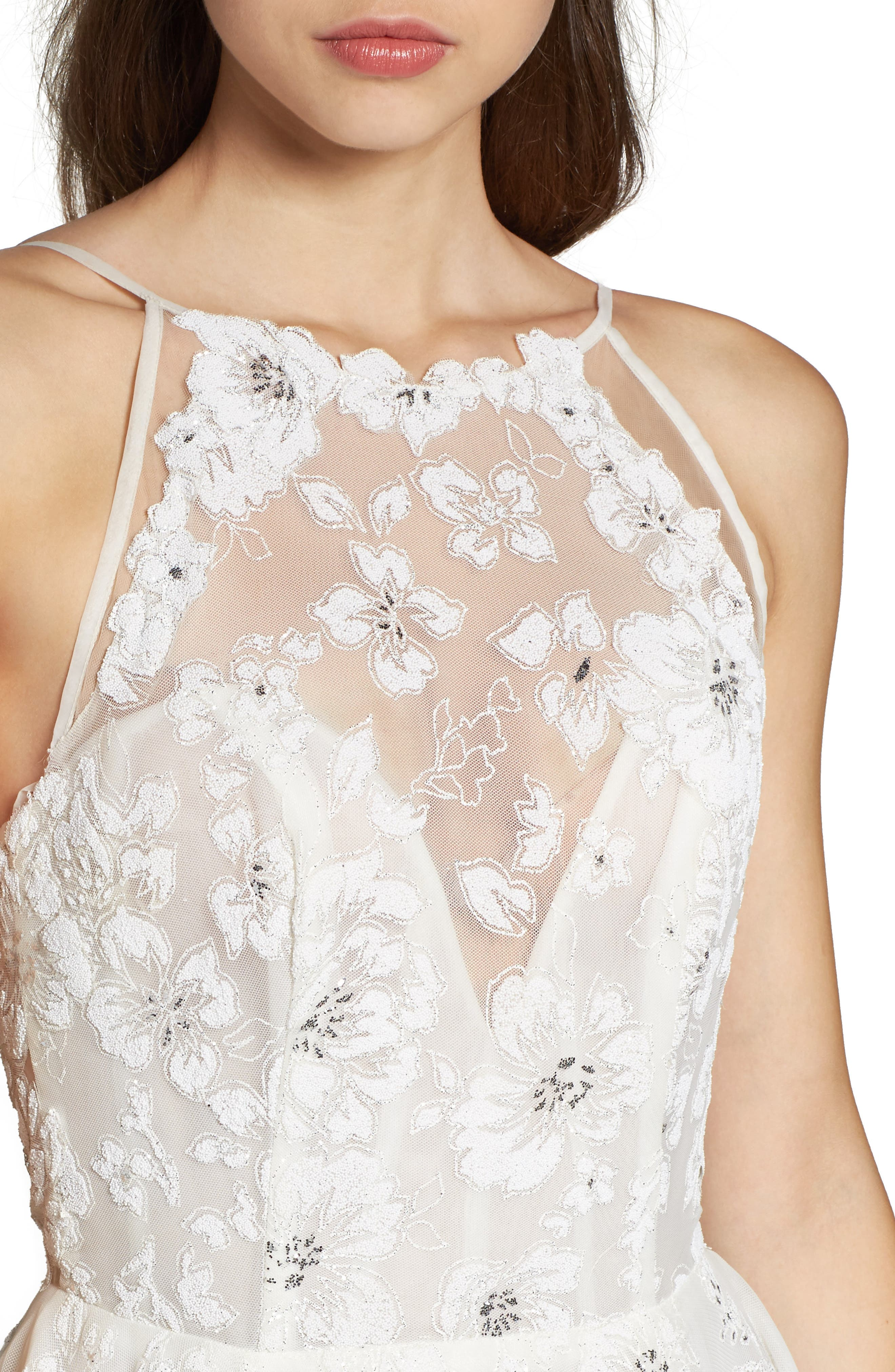 Alternate Image 4  - Hayley Paige Reagan Floral Embroidered Layered Ballgown