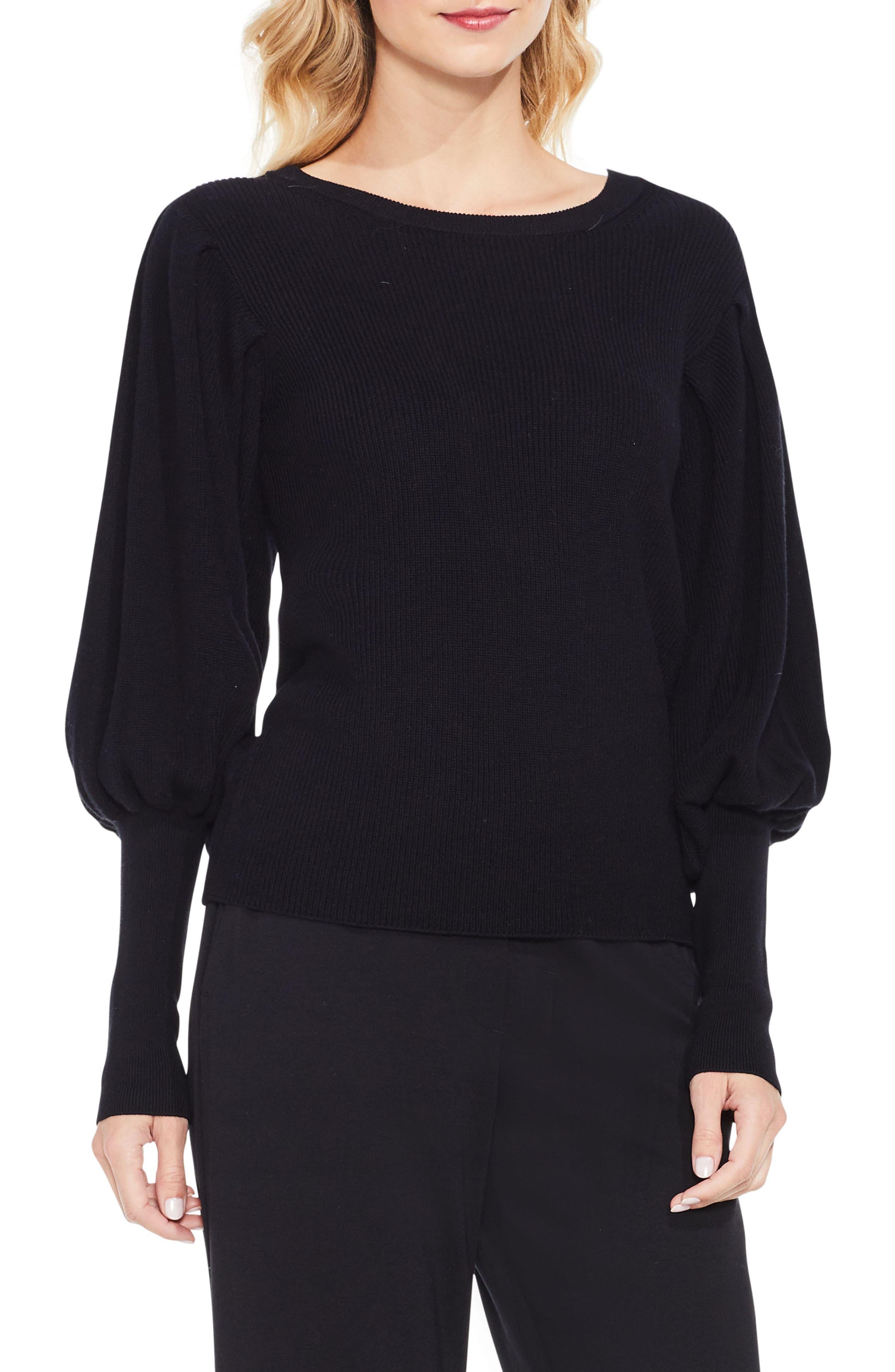 Vince Camuto Bubble Sleeve Sweater (Regular & Petite)