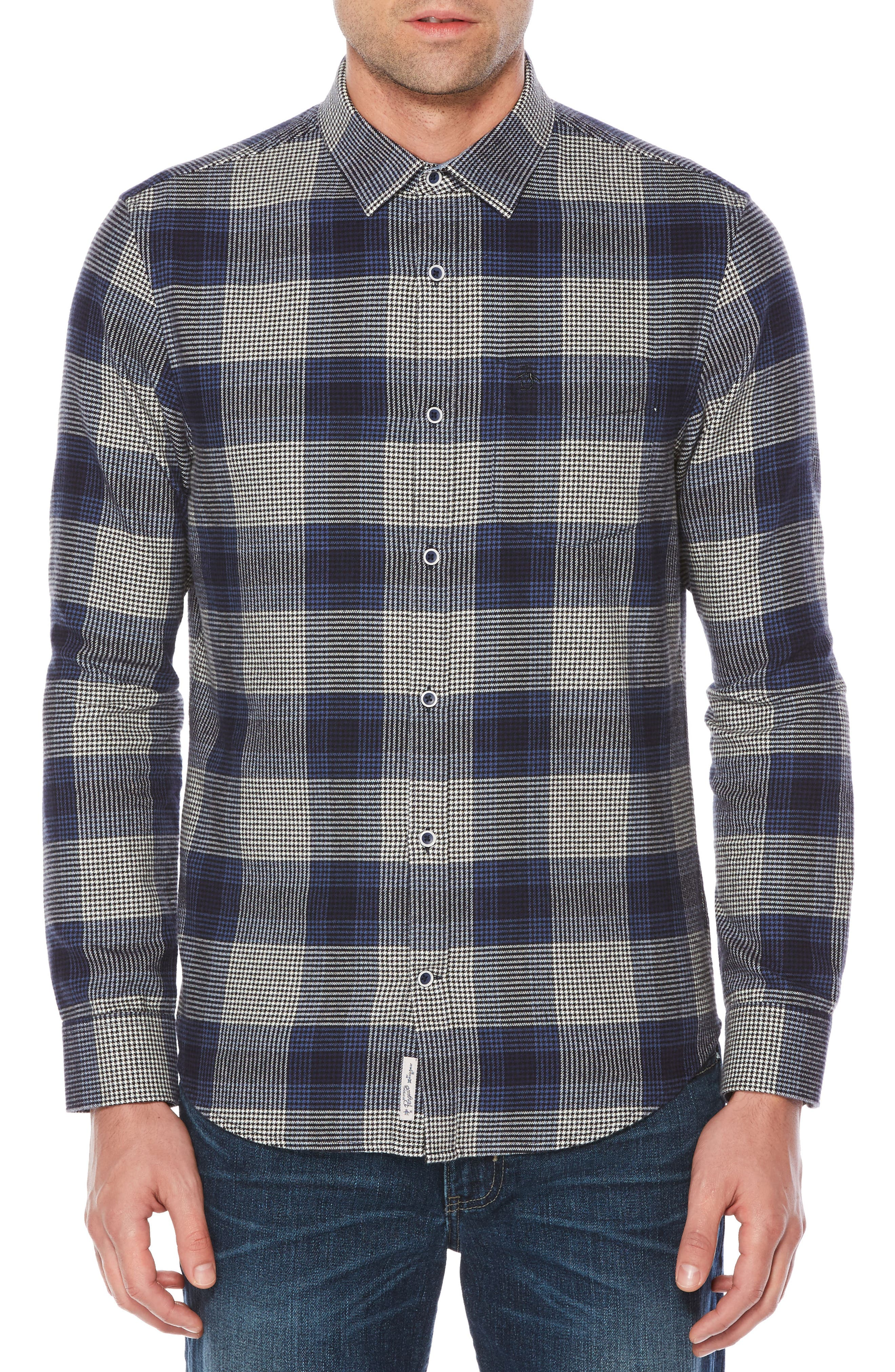 Brush Flannel Shirt,                         Main,                         color, Snorkel Blue
