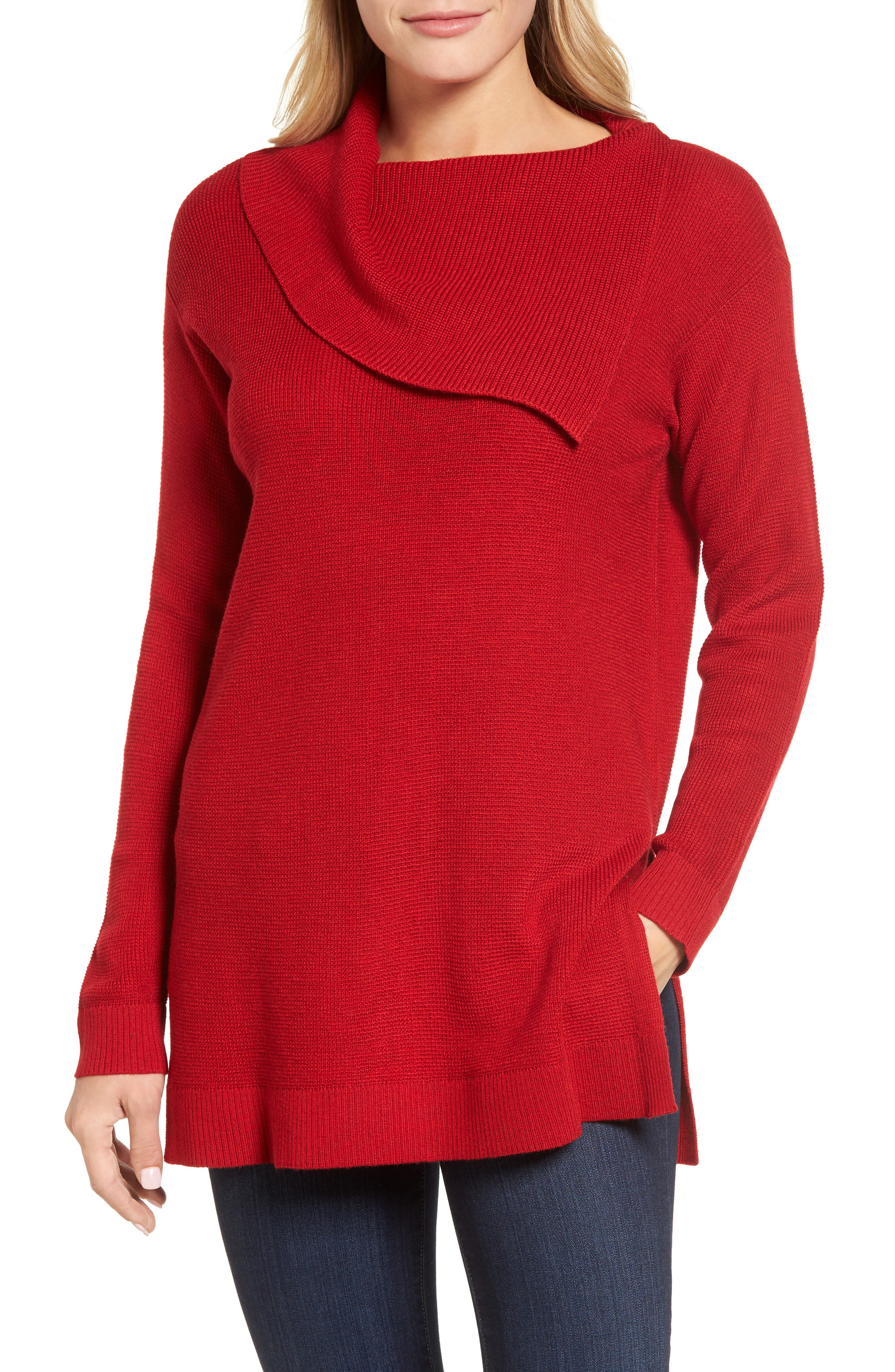Sweater,                         Main,                         color, True Crimson