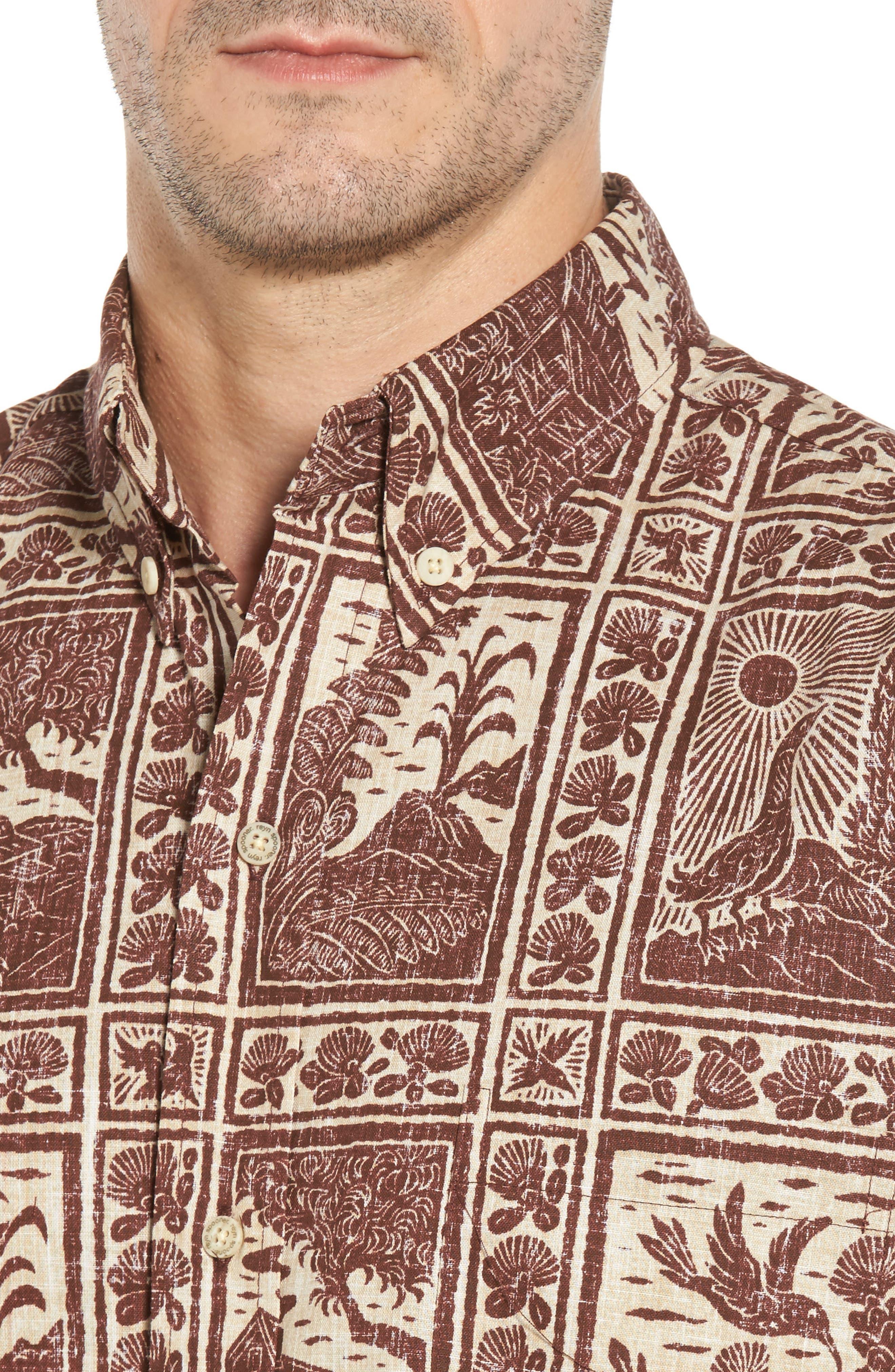 Alternate Image 4  - Reyn Spooner Volcano Park Classic Fit Sport Shirt