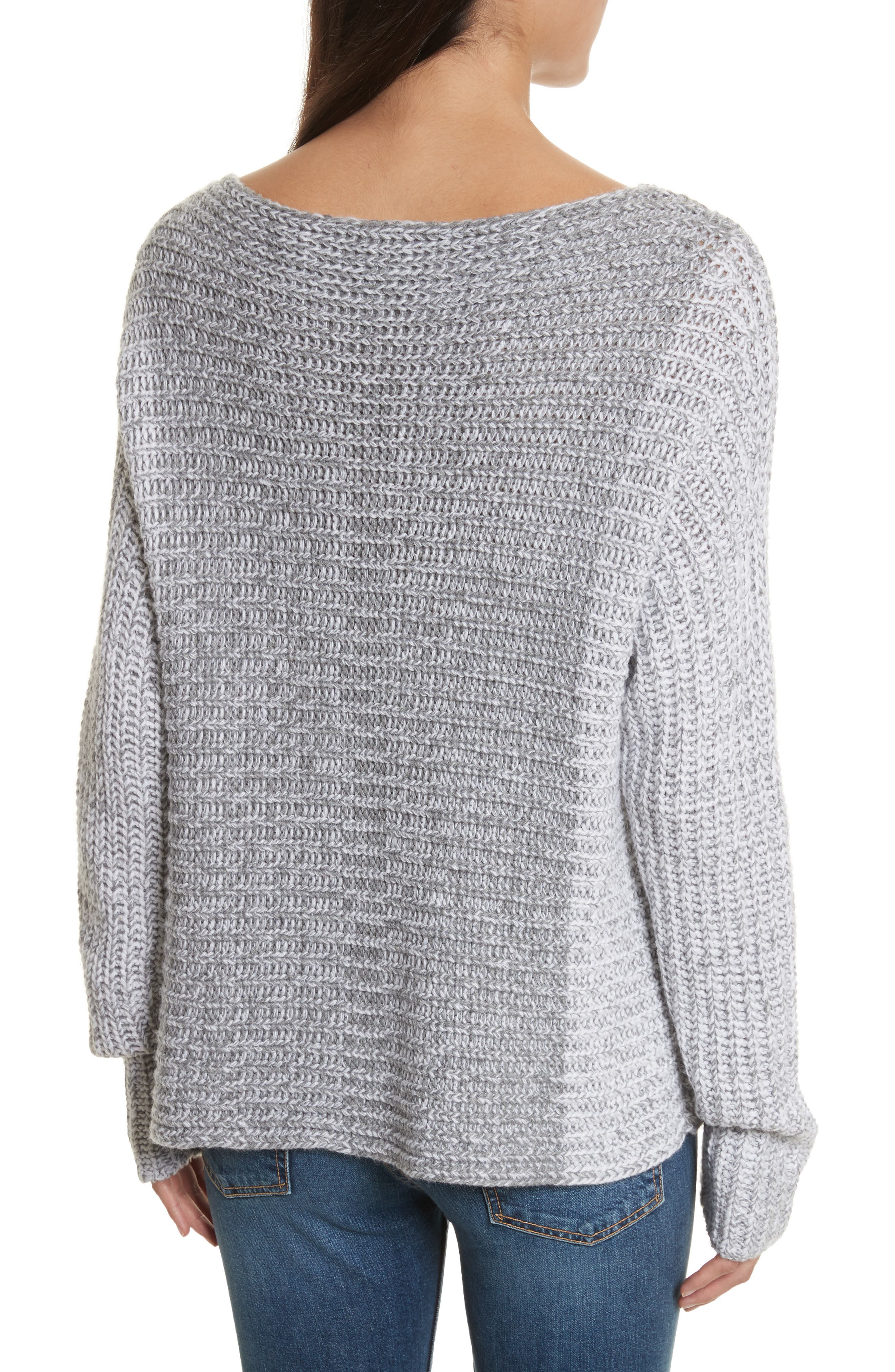 Colorblock Sweater,                             Alternate thumbnail 2, color,                             Grey