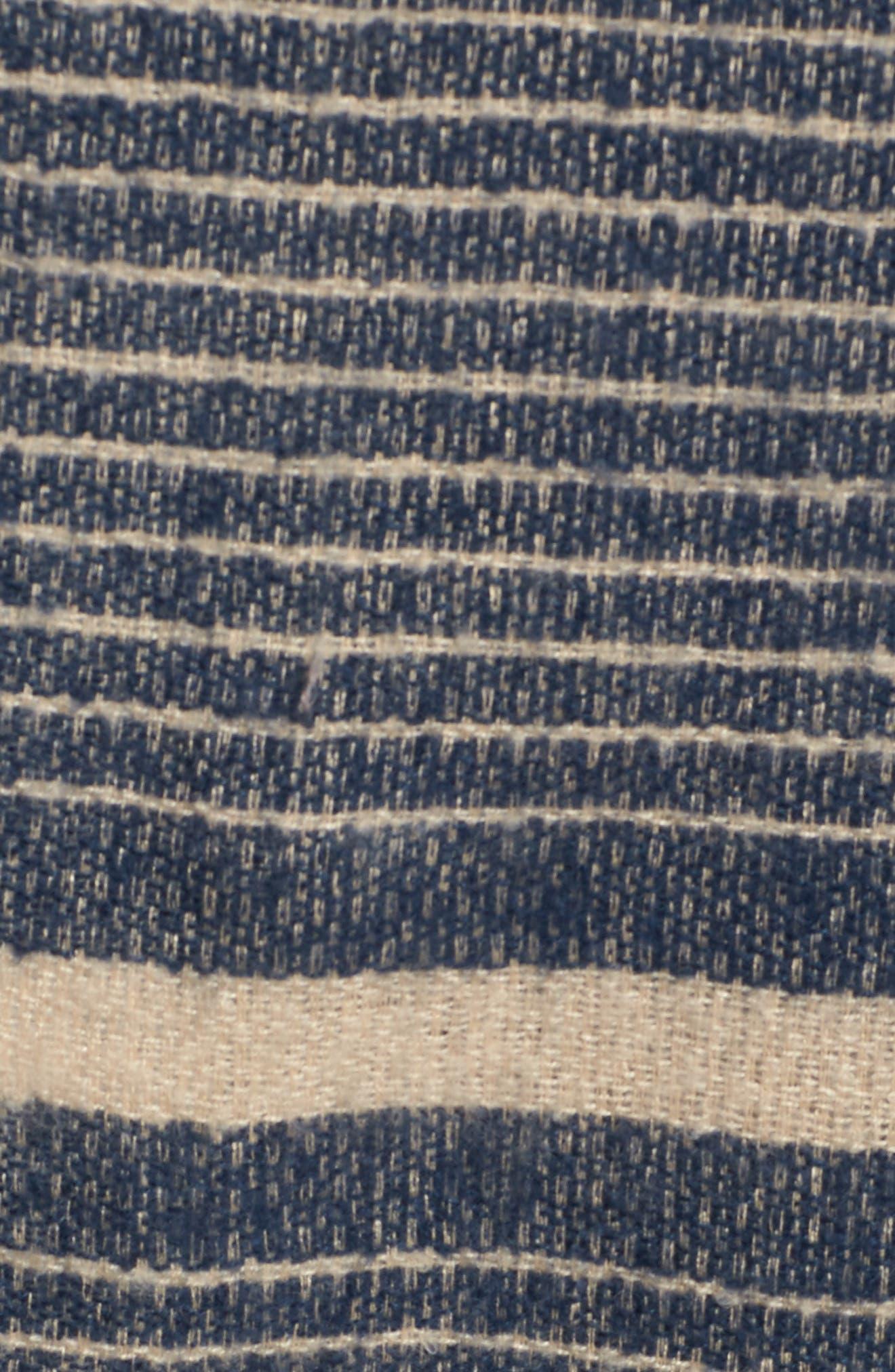 Stripe Blanket Scarf,                             Alternate thumbnail 5, color,                             Navy Combo