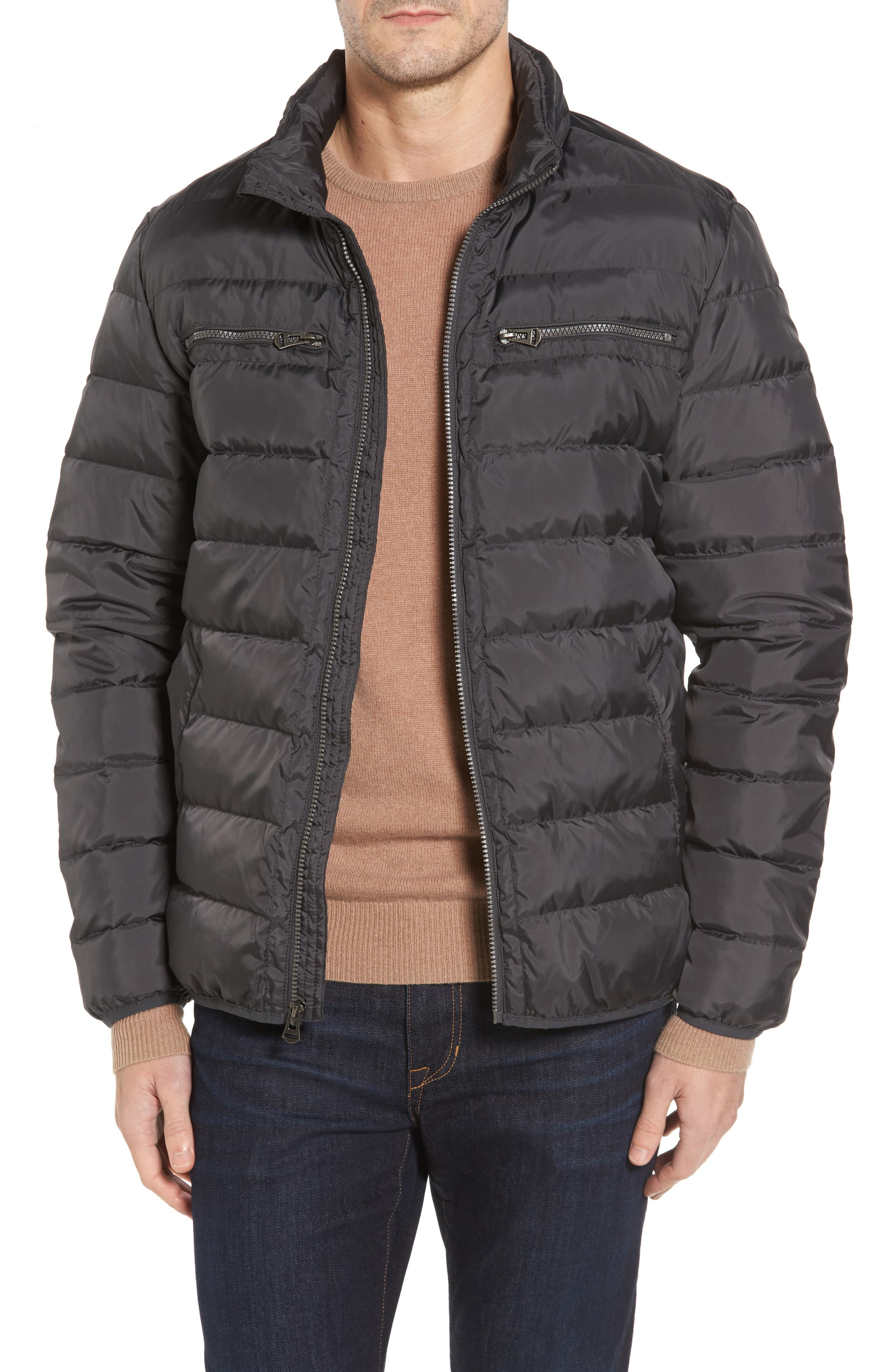 Packable Down Jacket,                         Main,                         color, Grey