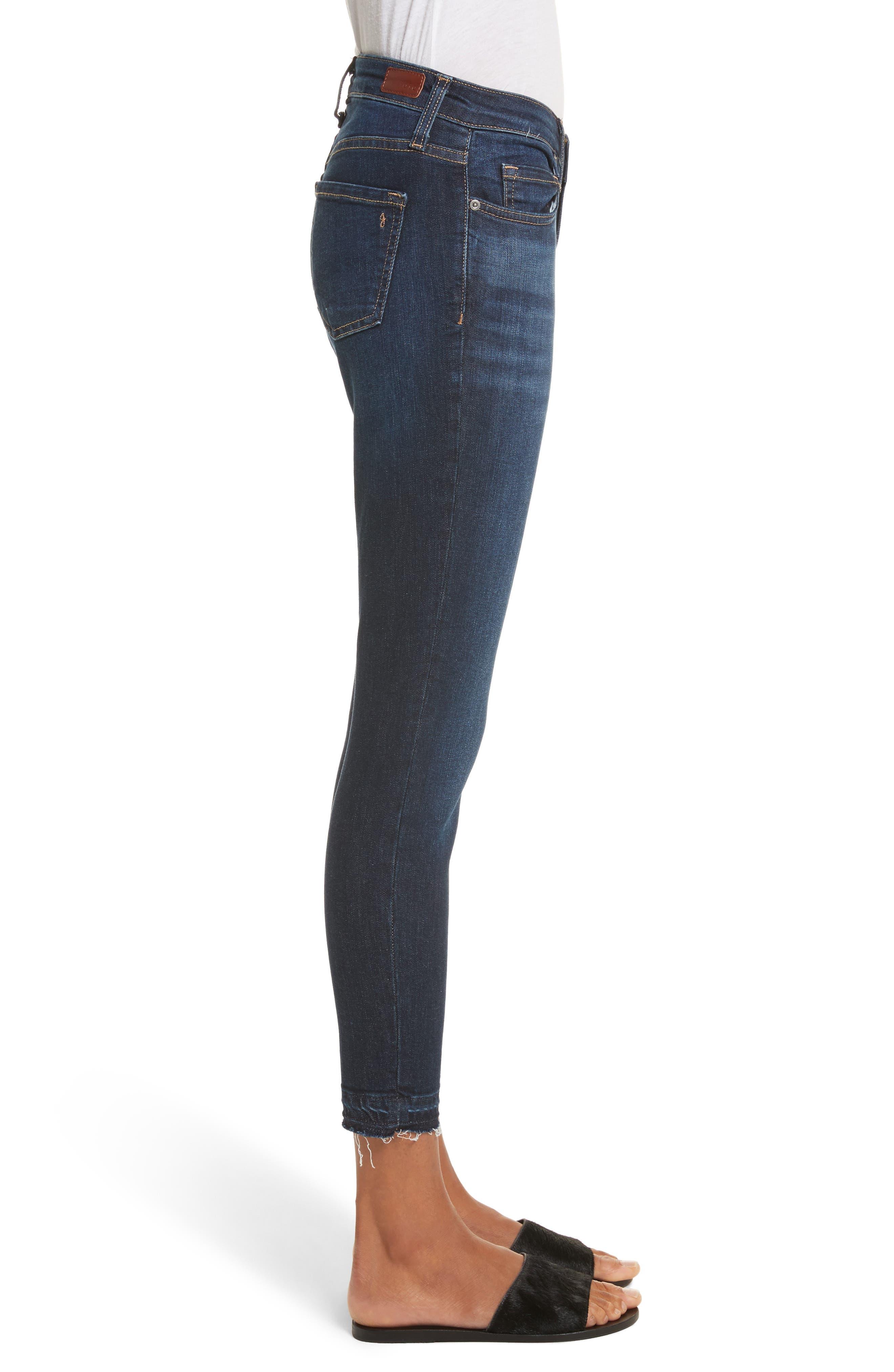 Ankle Skinny Jeans,                             Alternate thumbnail 2, color,                             Indigo Raven With Release Hem