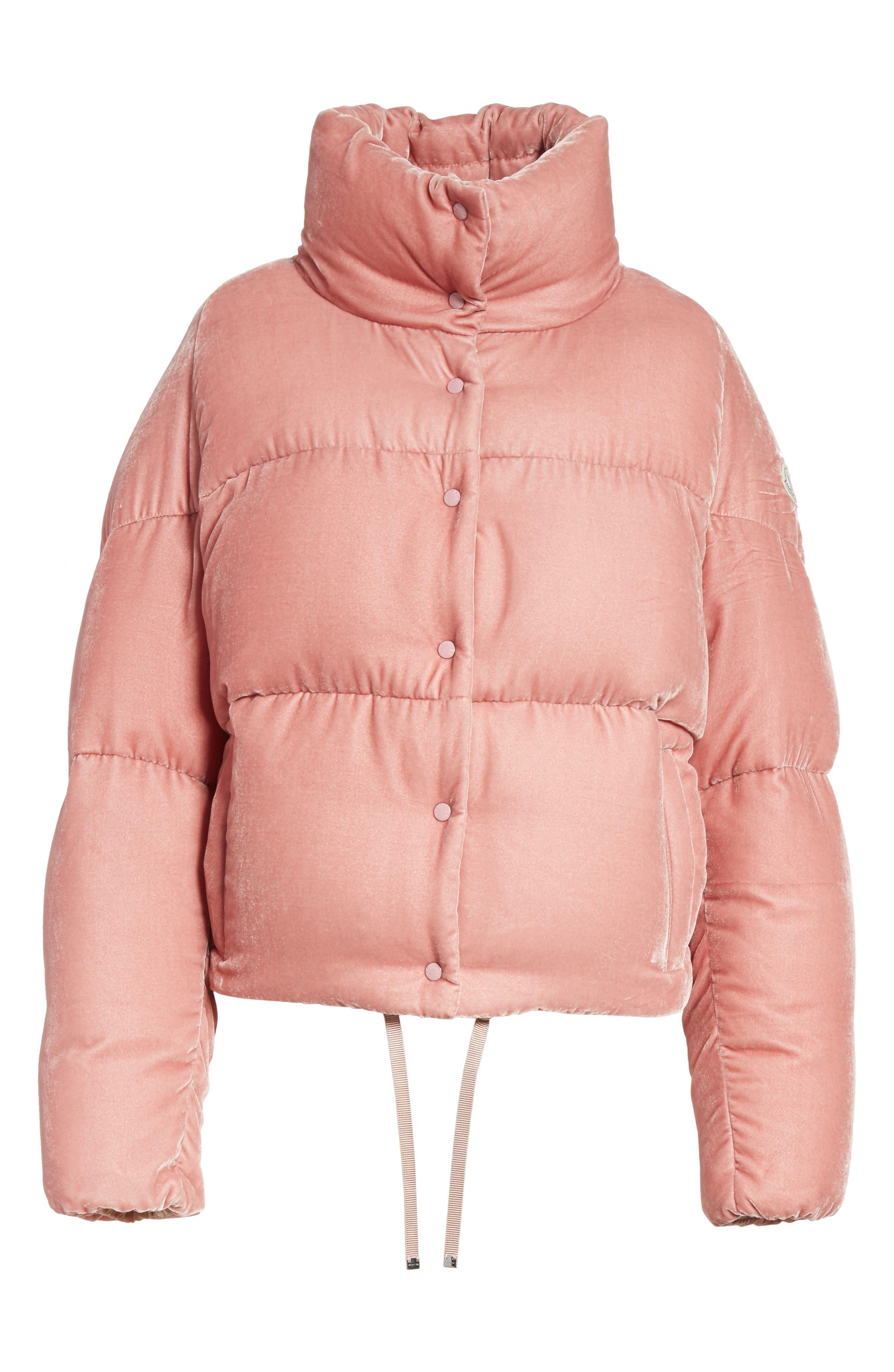Alternate Image 6  - Moncler Cercis Velvet Quilted Down Puffer Coat