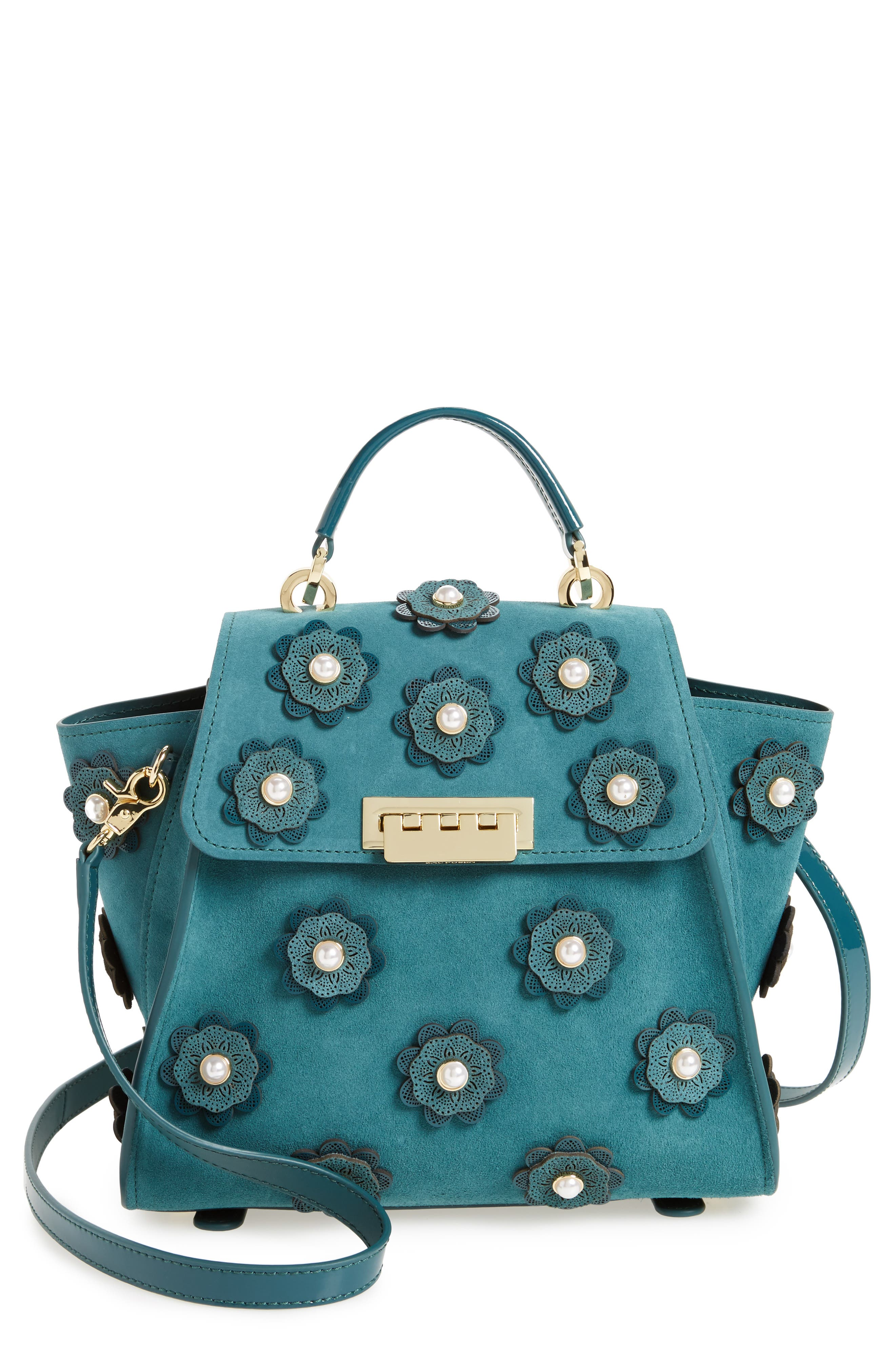 Eartha Iconic Convertible Leather Backpack,                         Main,                         color, Teal
