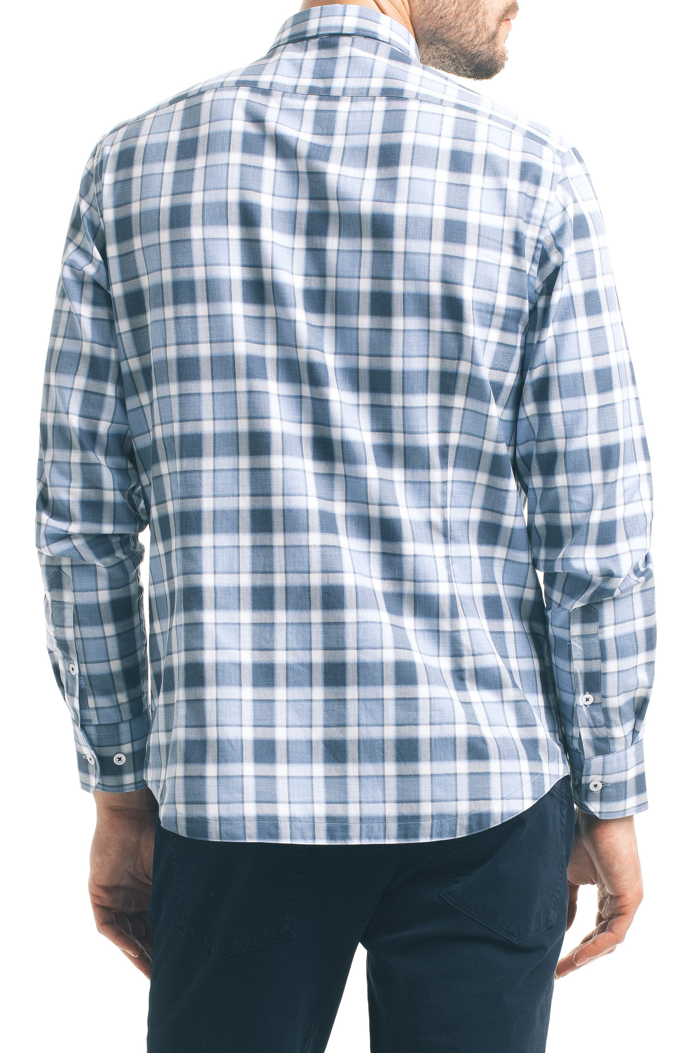 Alternate Image 2  - Good Man Brand Slim Fit Windowpane Check Sport Shirt