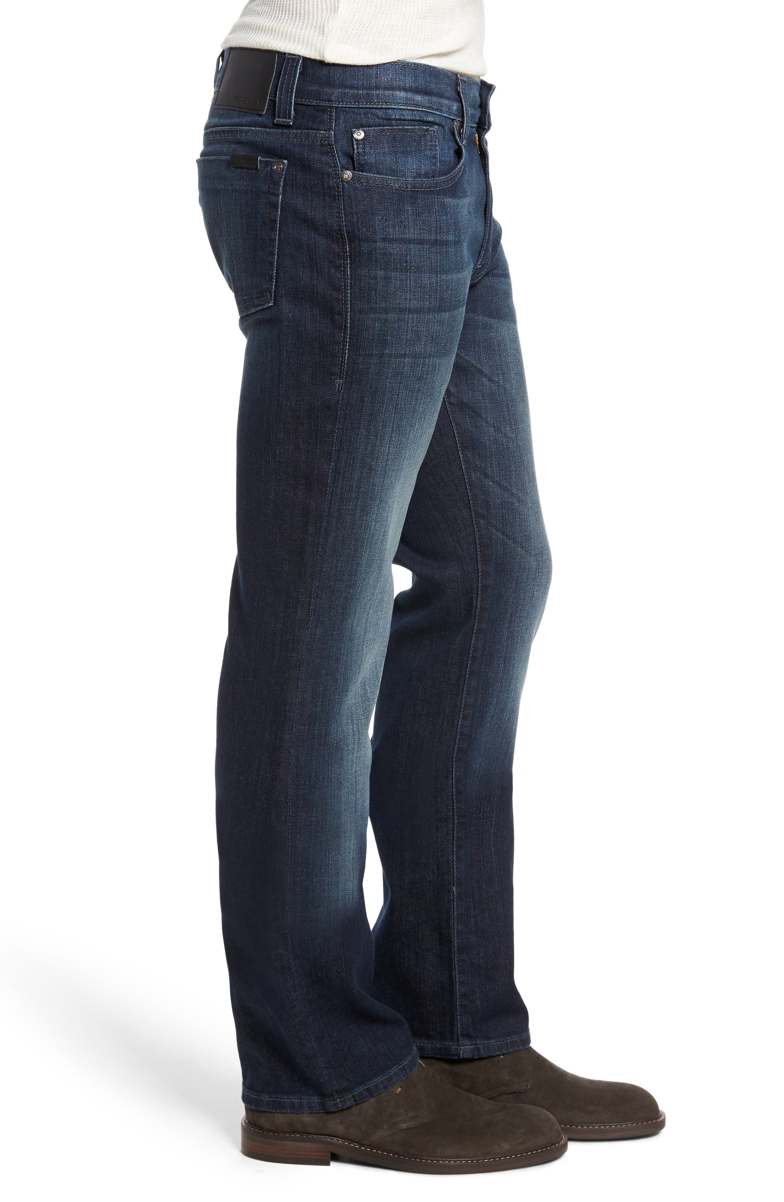 50-11 Relaxed Fit Jeans,                             Alternate thumbnail 3, color,                             Militia Blue