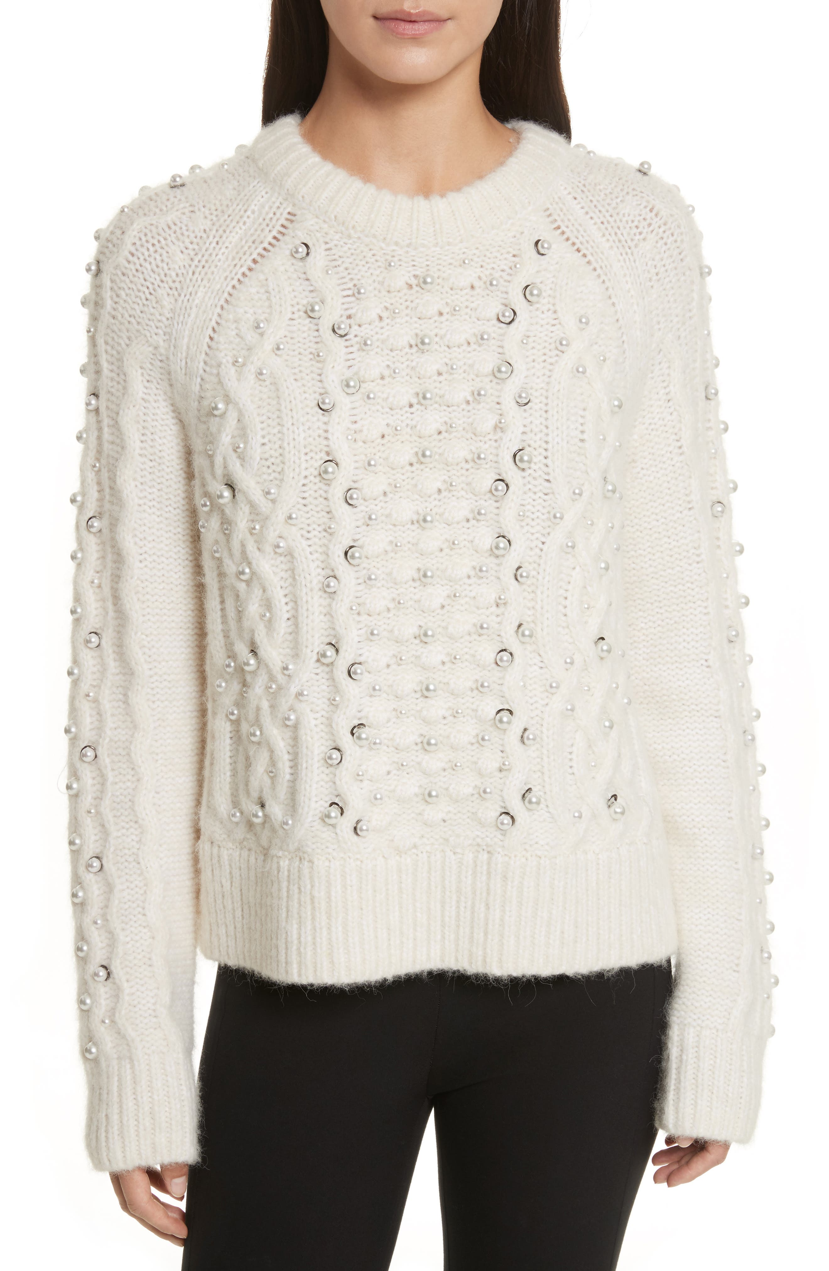 rag & bone Jemima Wool & Alpaca Blend Beaded Sweater