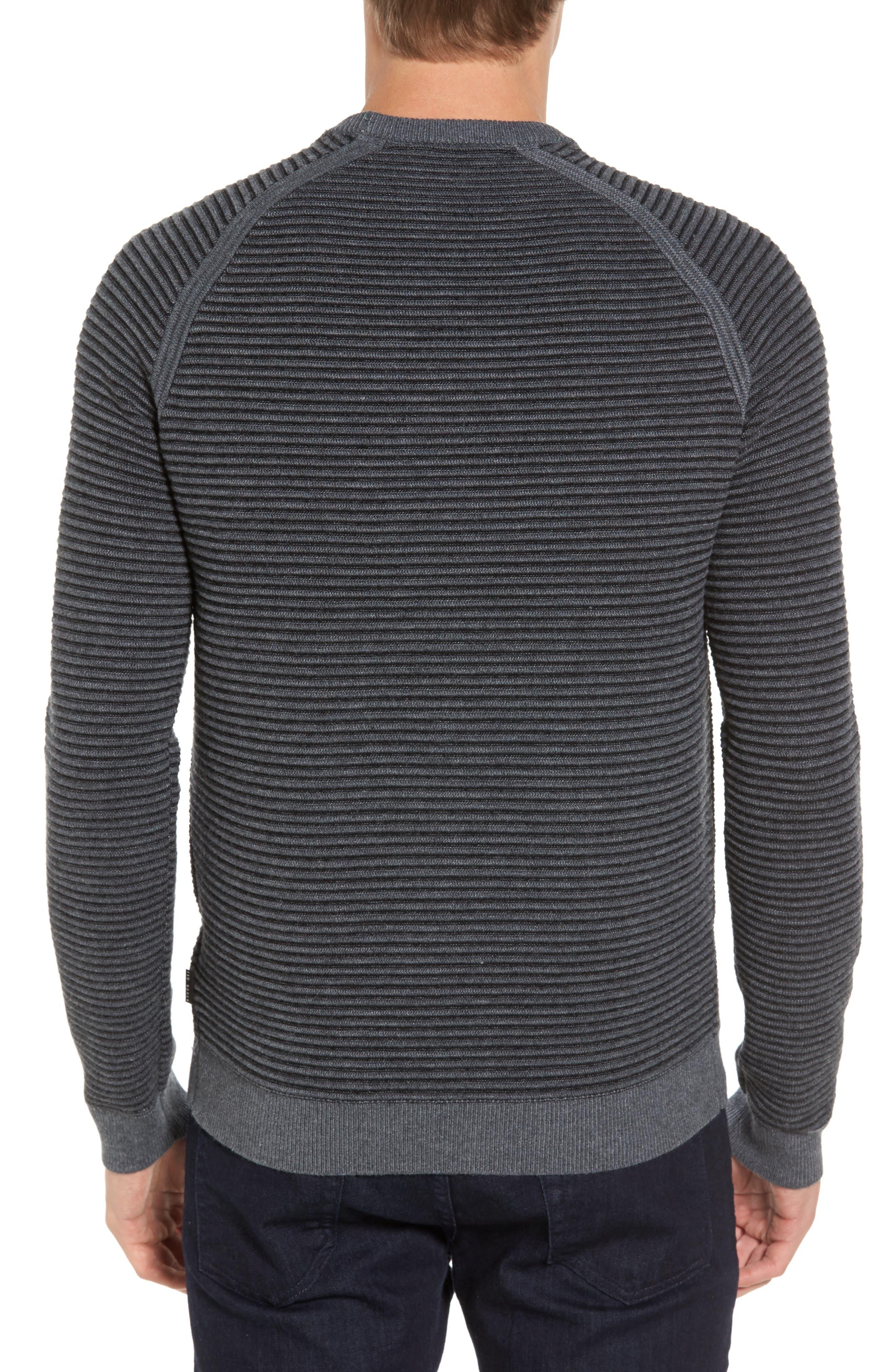 Alternate Image 2  - Ted Baker London Cashoo Slim Fit Ribbed Sweatshirt