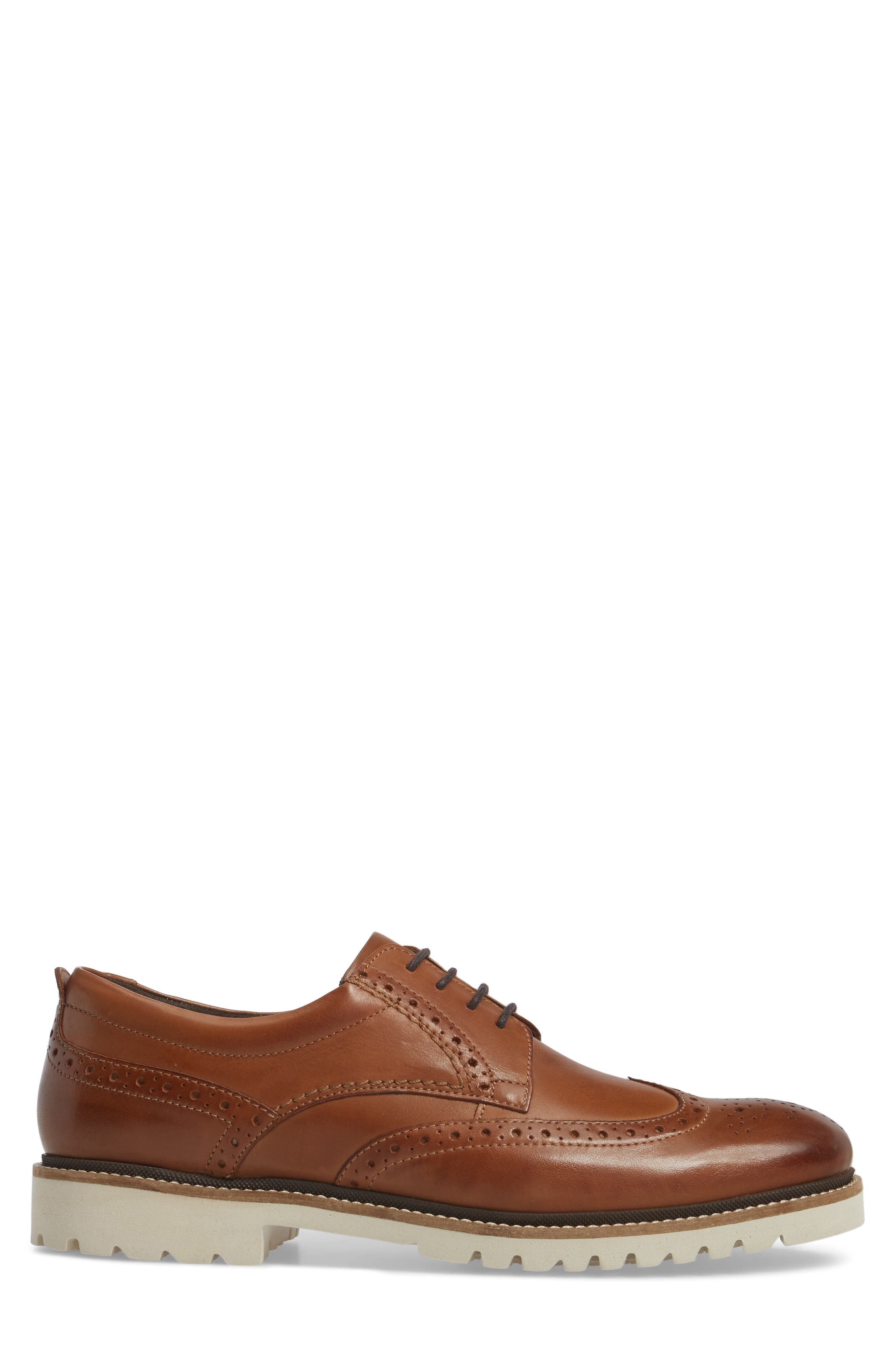 Marshall Wingtip,                             Alternate thumbnail 3, color,                             Cognac Leather