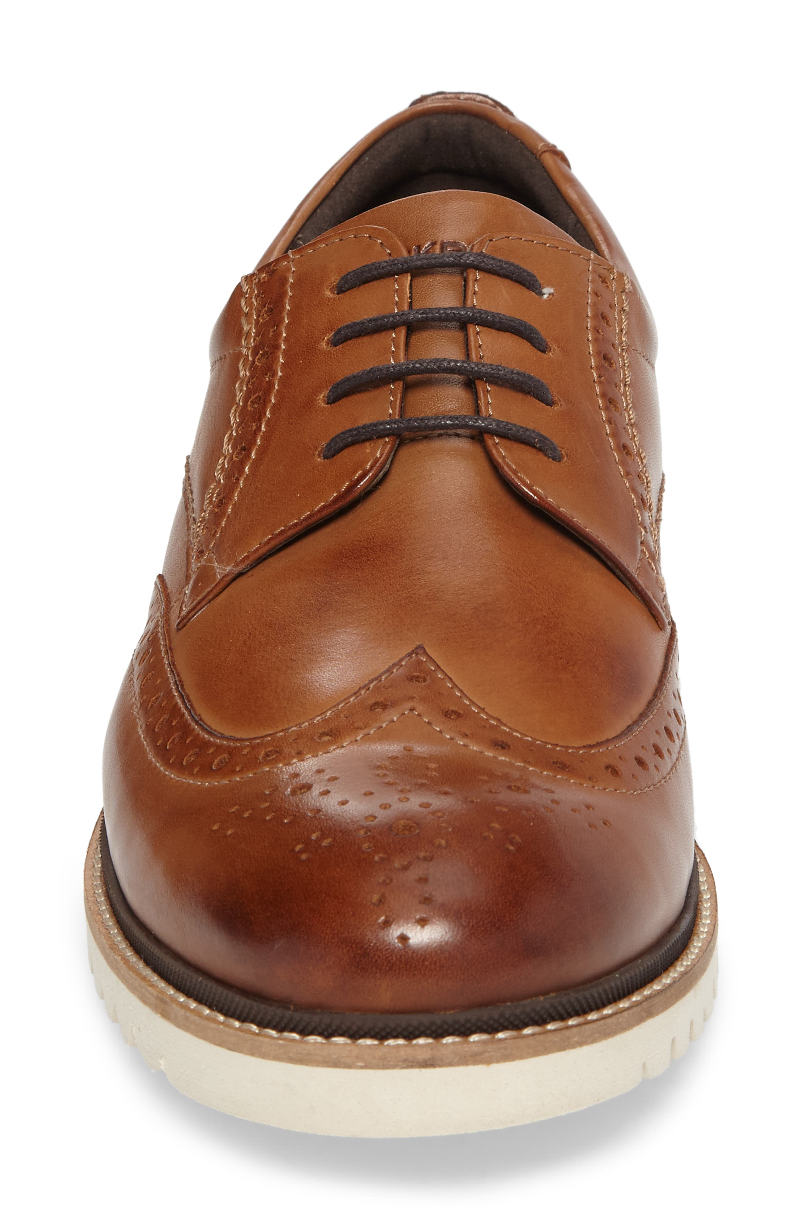 Marshall Wingtip,                             Alternate thumbnail 4, color,                             Cognac Leather