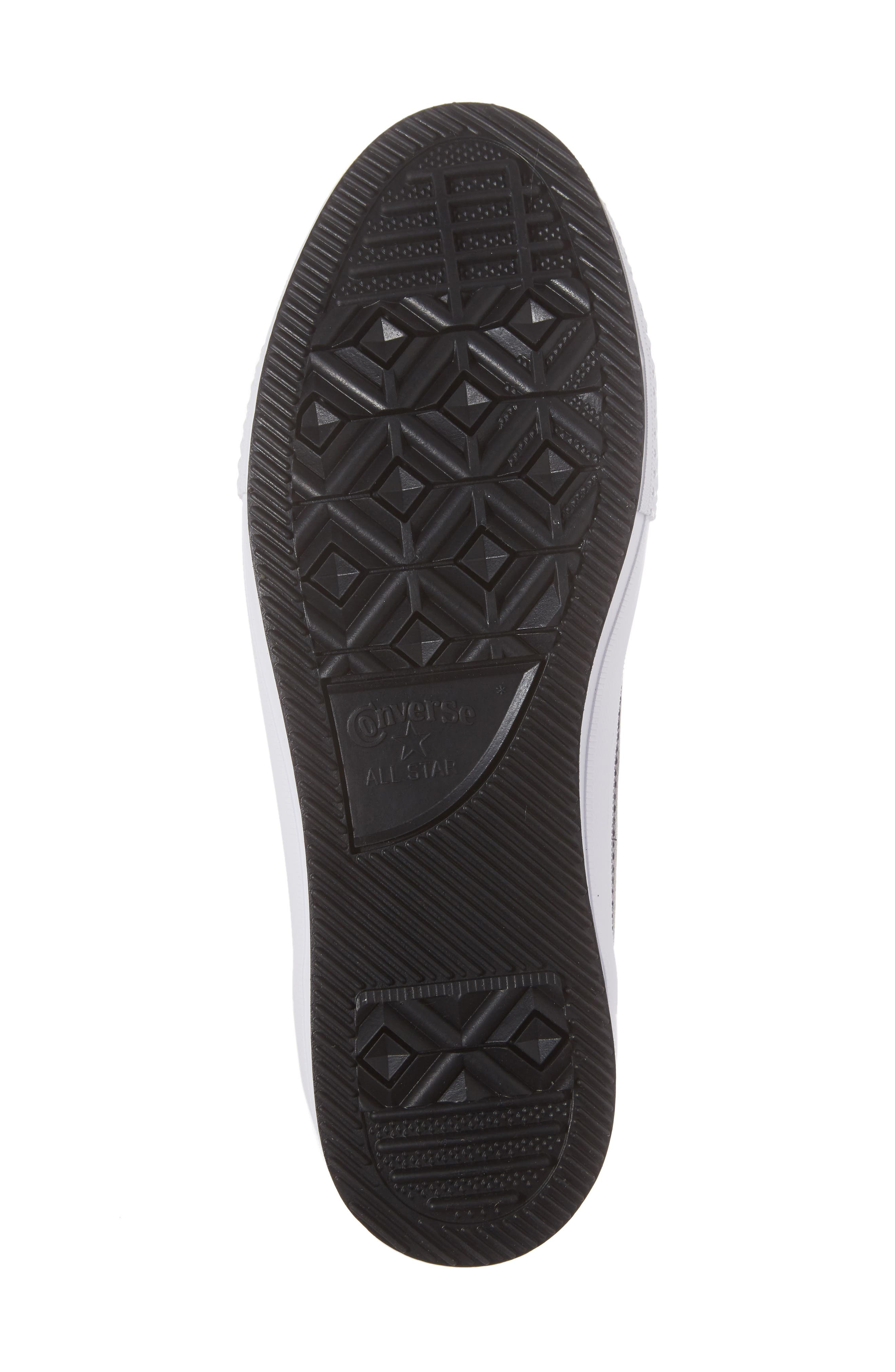 Chuck Taylor<sup>®</sup> All Star<sup>®</sup> Waterproof Quilted Sneaker,                             Alternate thumbnail 6, color,                             Black Leather