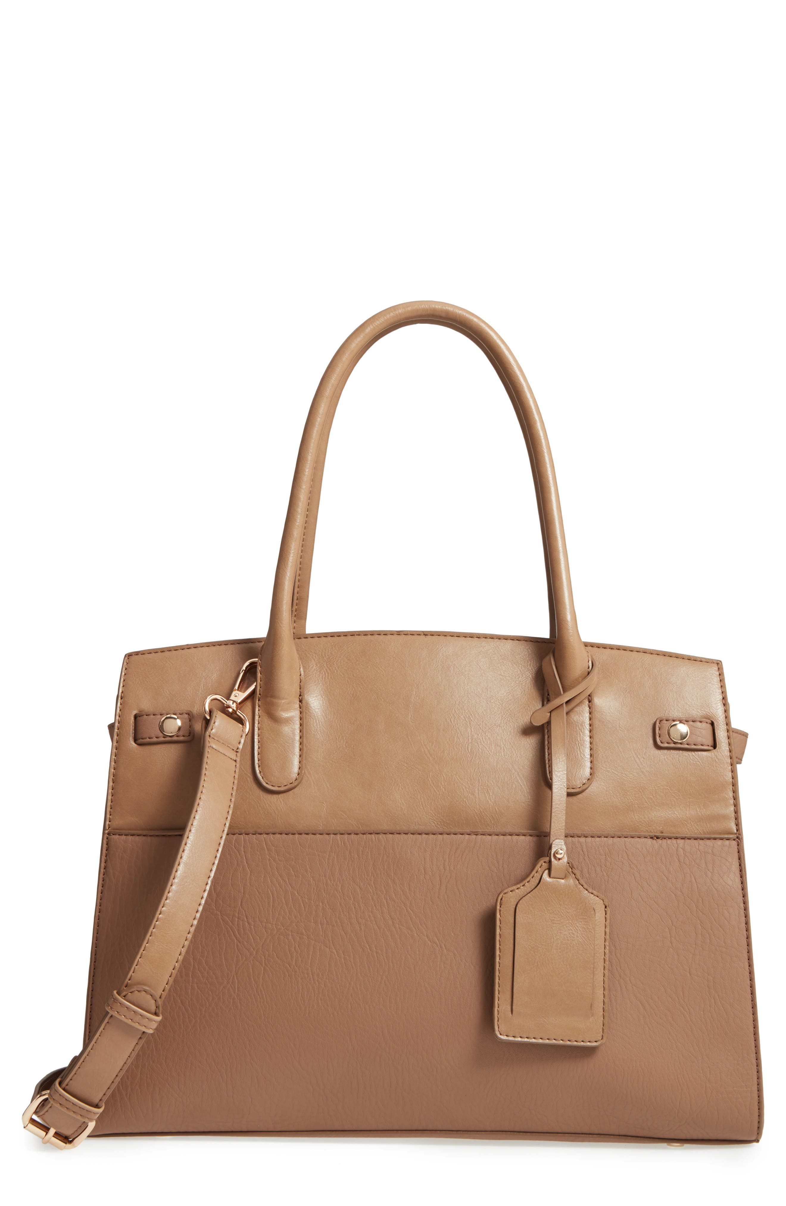 Alternate Image 1 Selected - Sole Society Ladylike Faux Leather Satchel