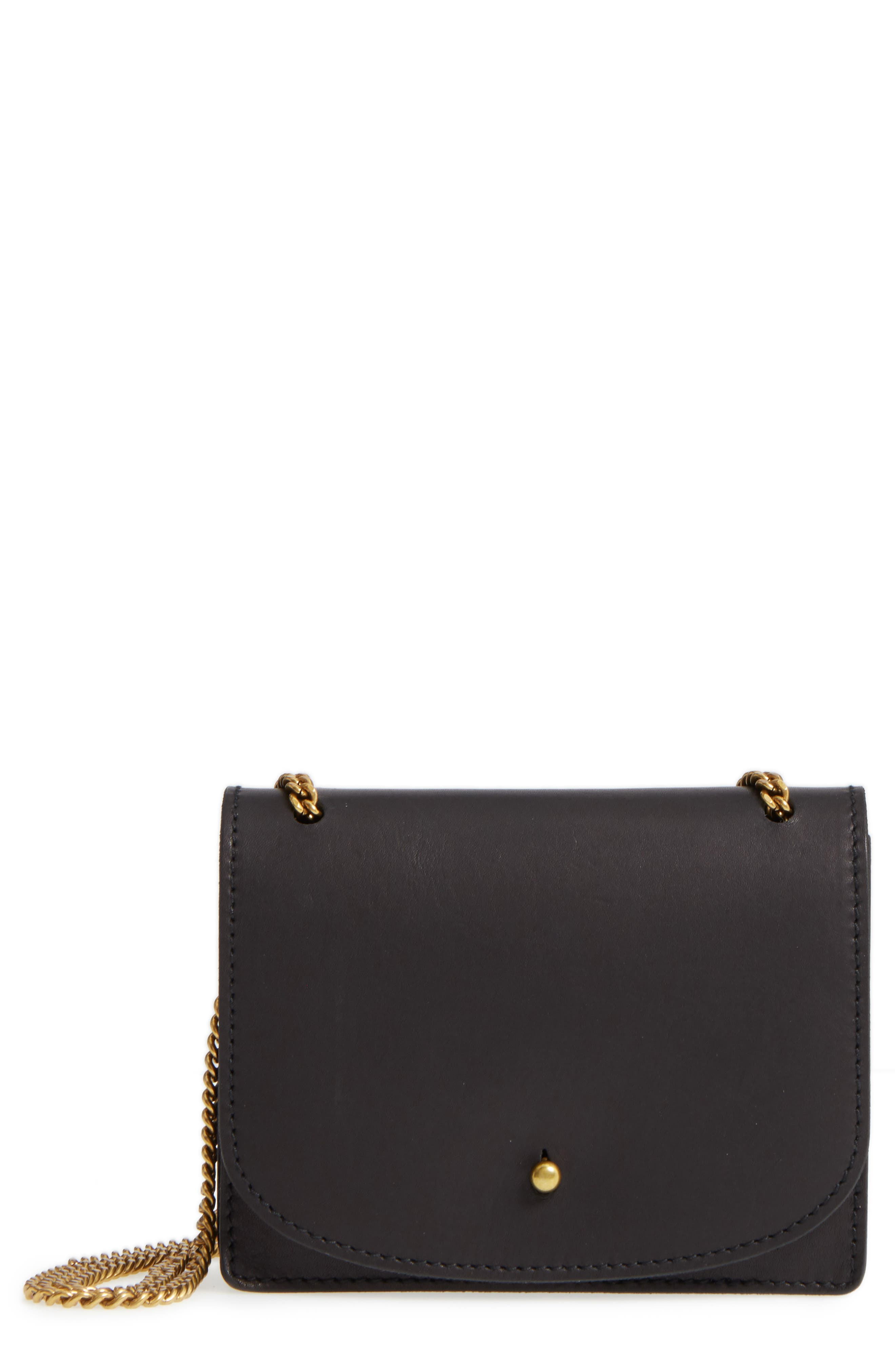 Main Image - Madewell Chain Leather Crossbody Bag