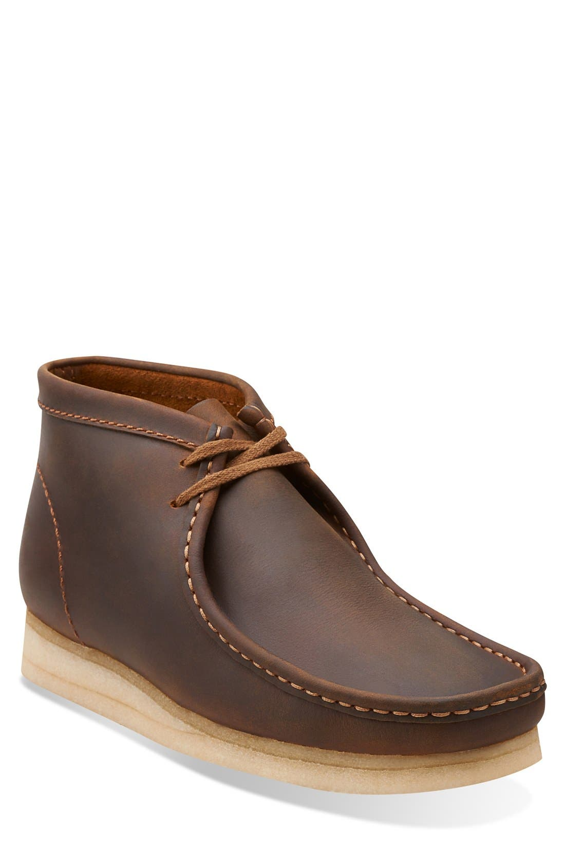 'Wallabee' Boot,                         Main,                         color, Beeswax Leather