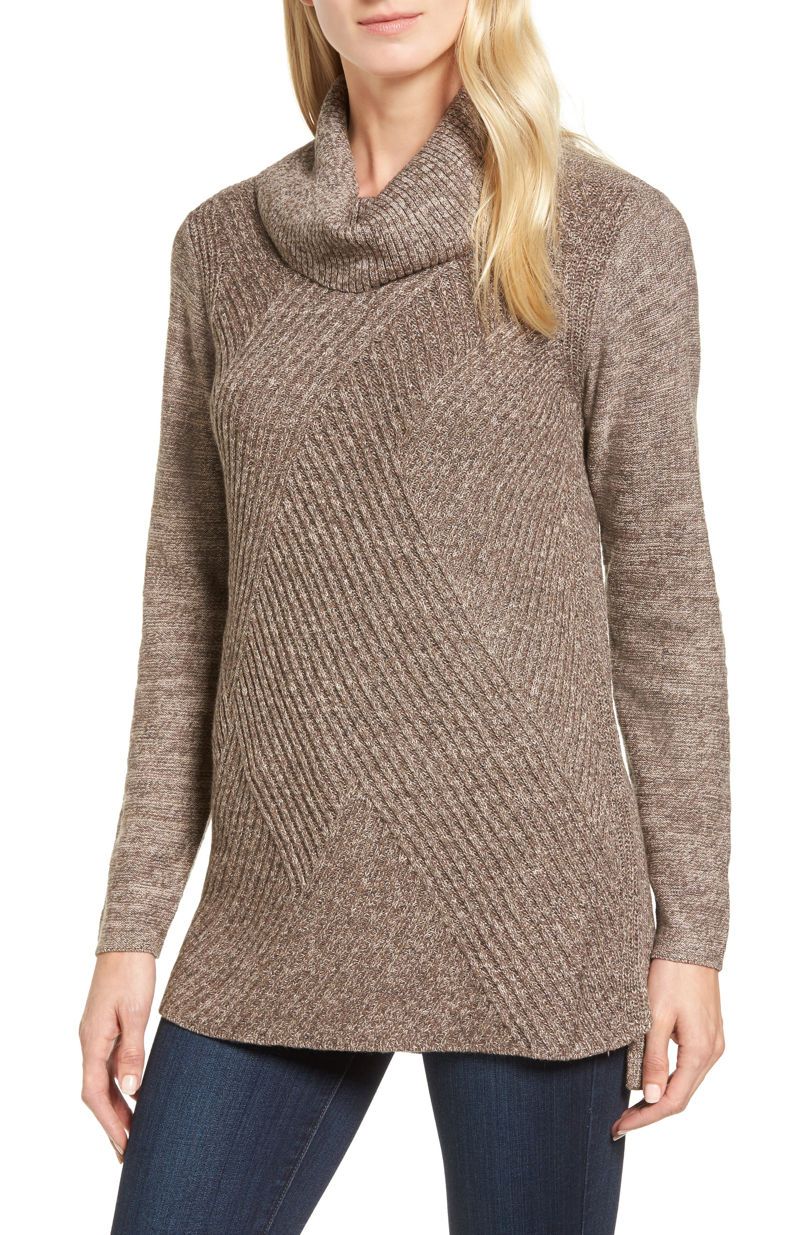 North Star Turtleneck Tunic,                             Main thumbnail 1, color,                             Kona