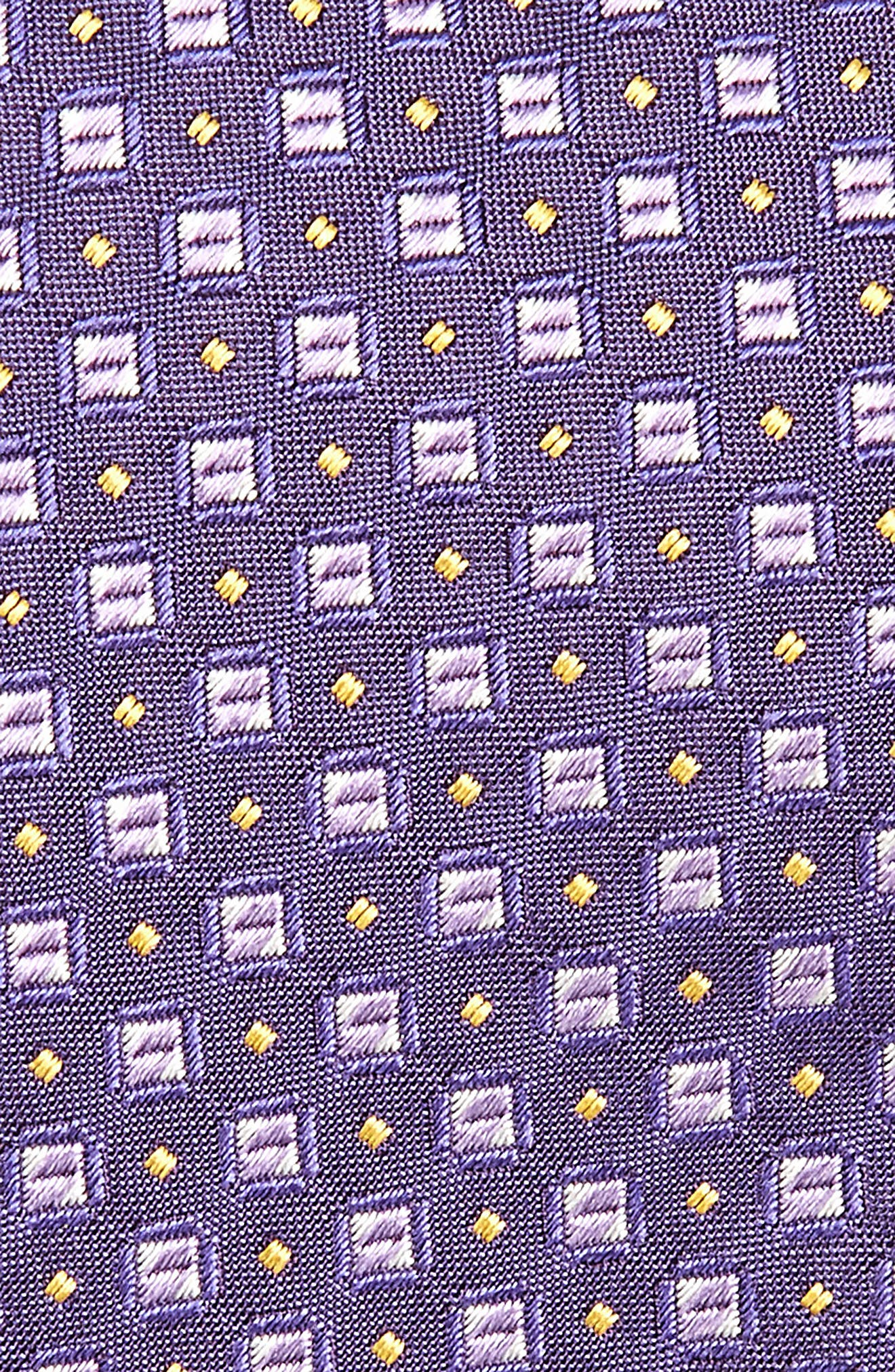 Geometric Silk Tie,                             Alternate thumbnail 2, color,                             Purple