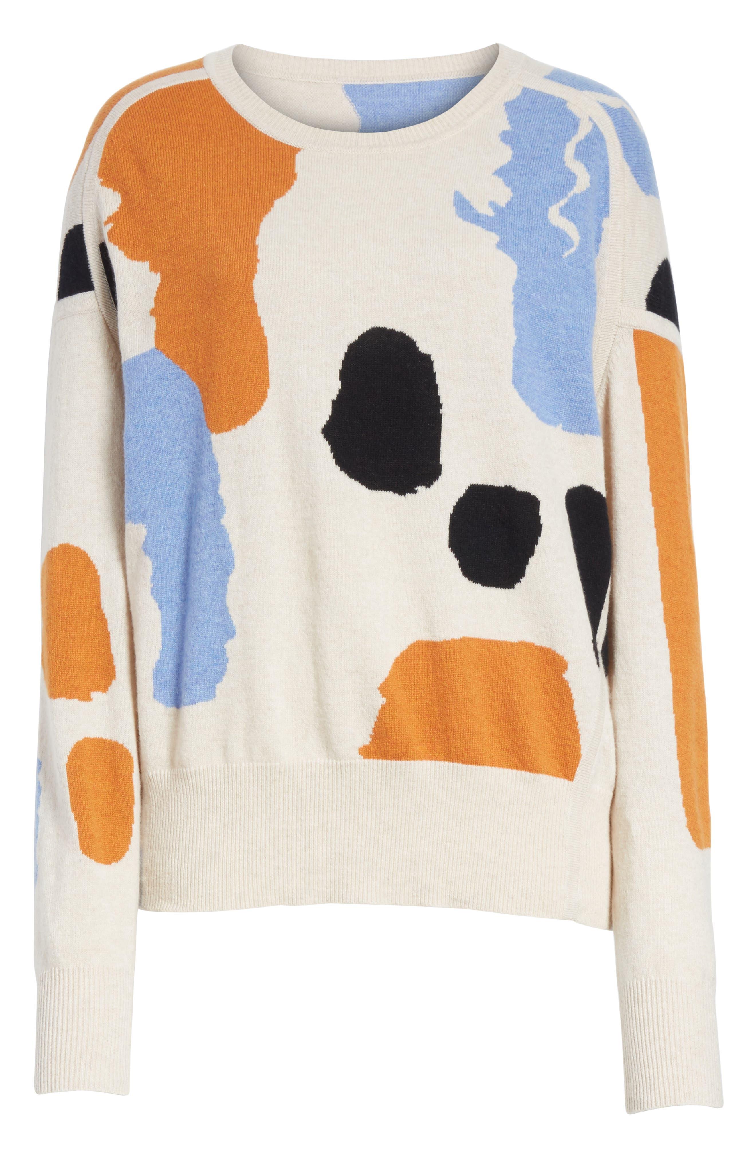 Palette Cashmere & Merino Wool Sweater,                             Alternate thumbnail 6, color,                             Palette Greige