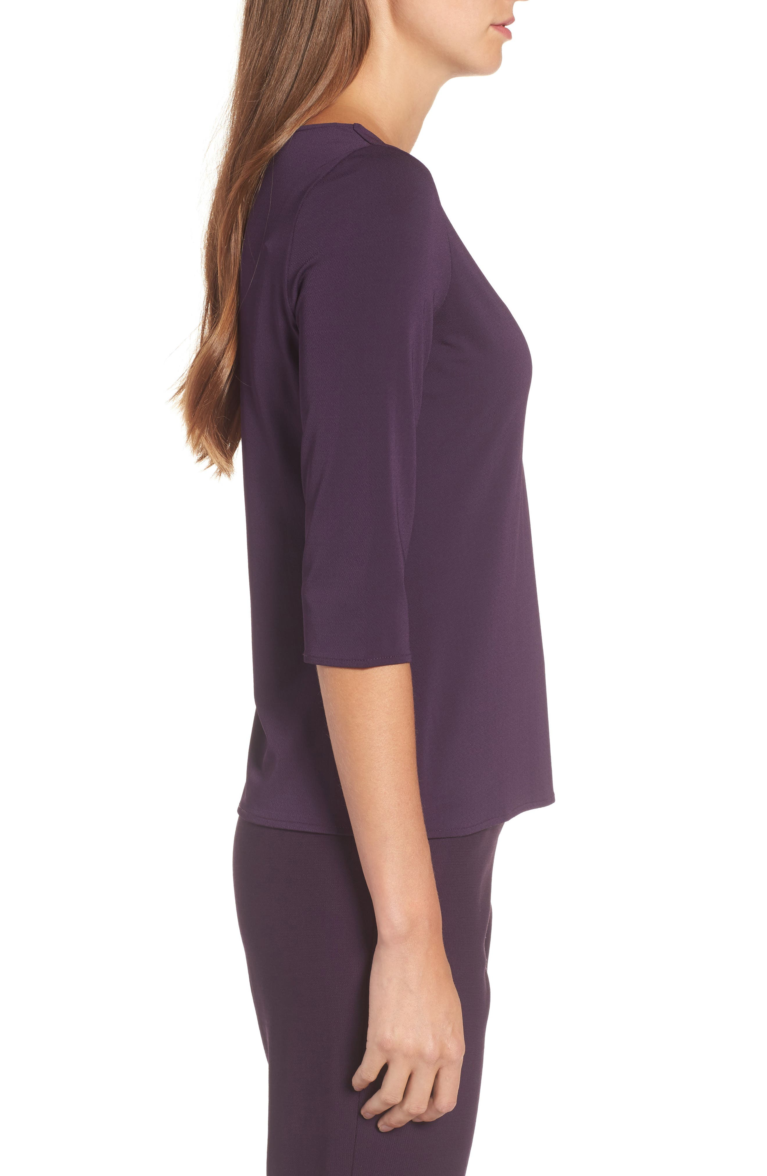 Alternate Image 3  - BOSS Epina Keyhole Jersey Top (Nordstrom Exclusive)