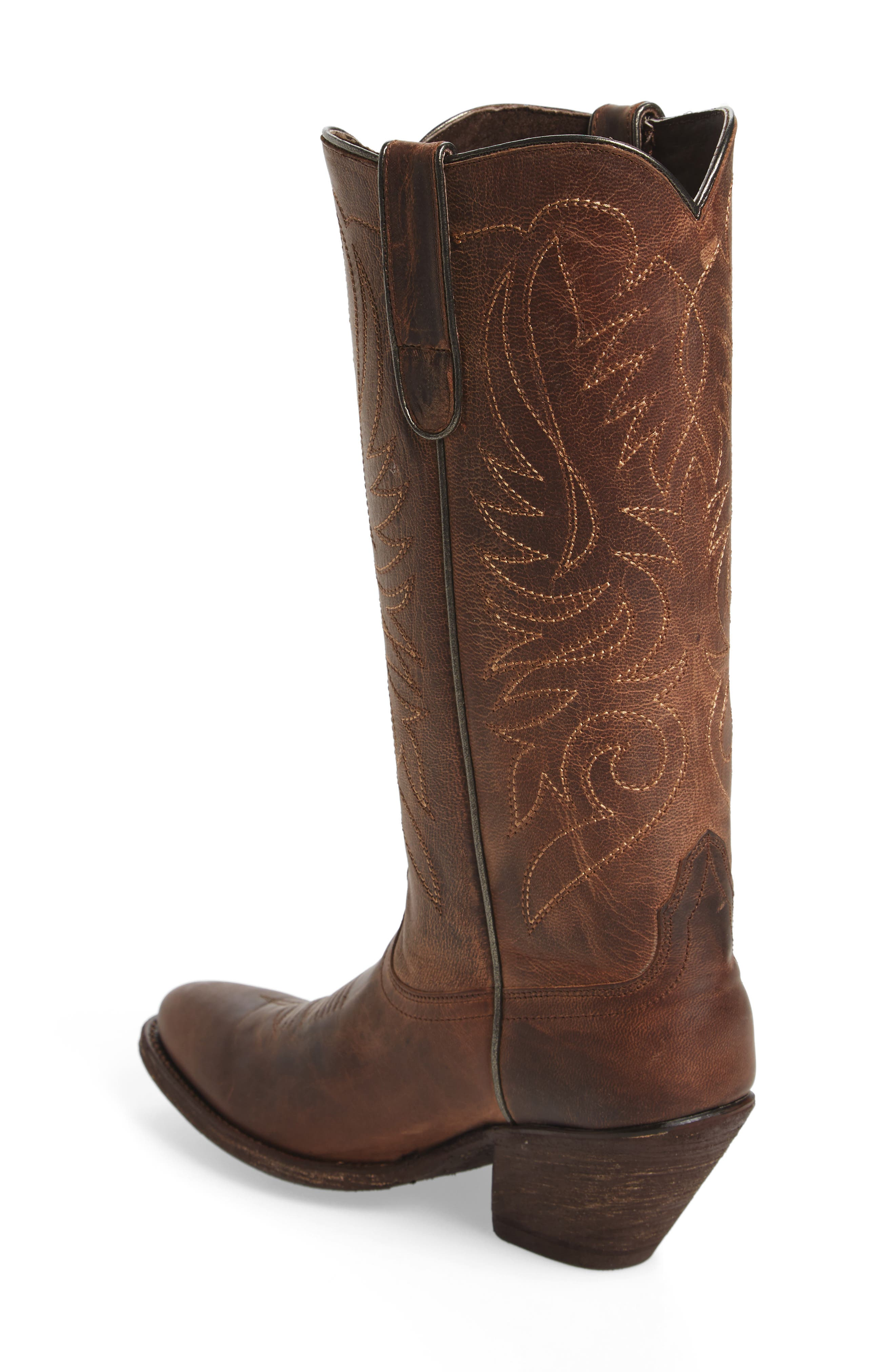 Shindig Western Boot,                             Alternate thumbnail 2, color,                             Weathered Tan Leather