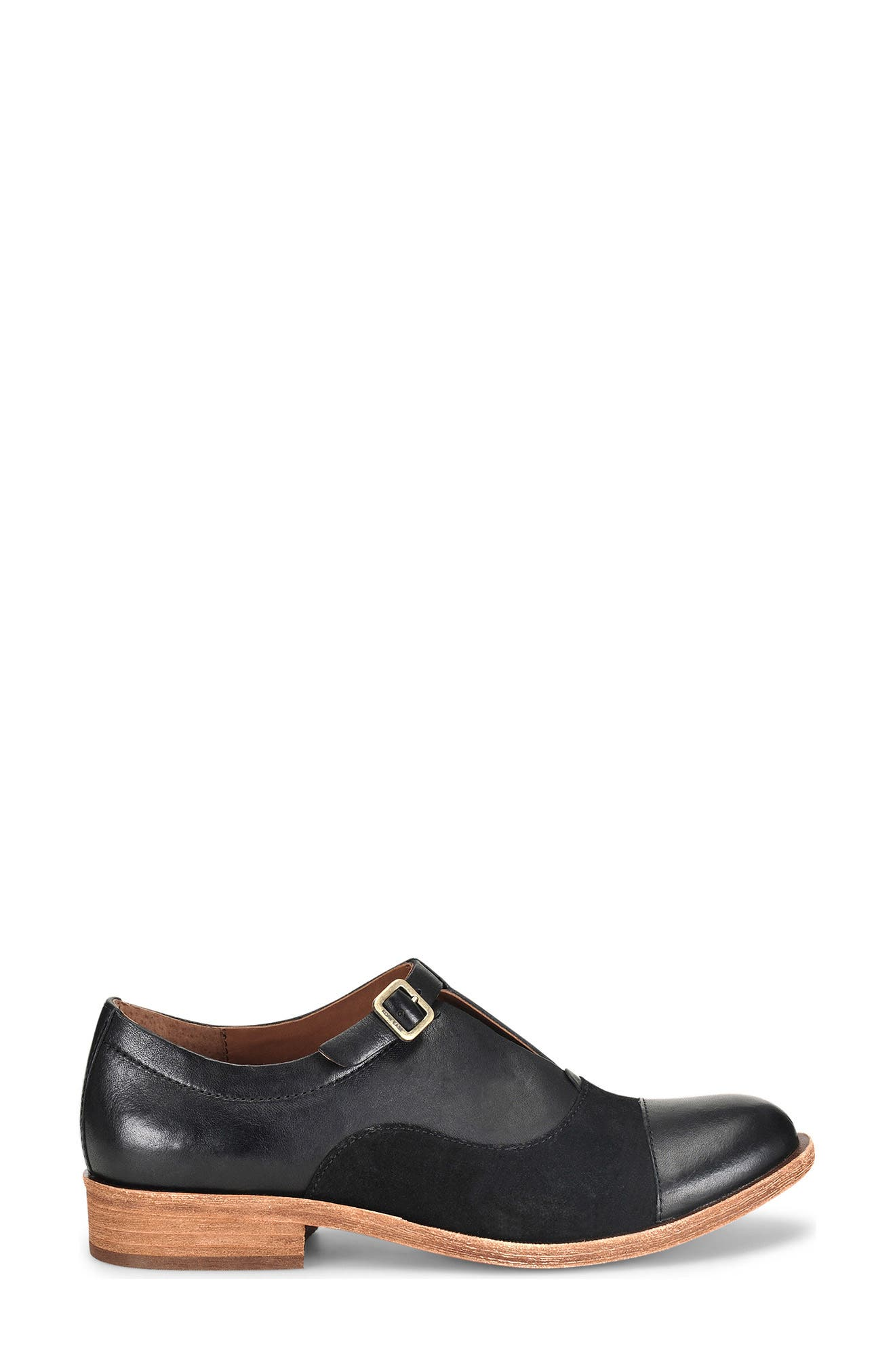 'Niseda' Oxford,                             Alternate thumbnail 5, color,                             Black Leather Suede Combo